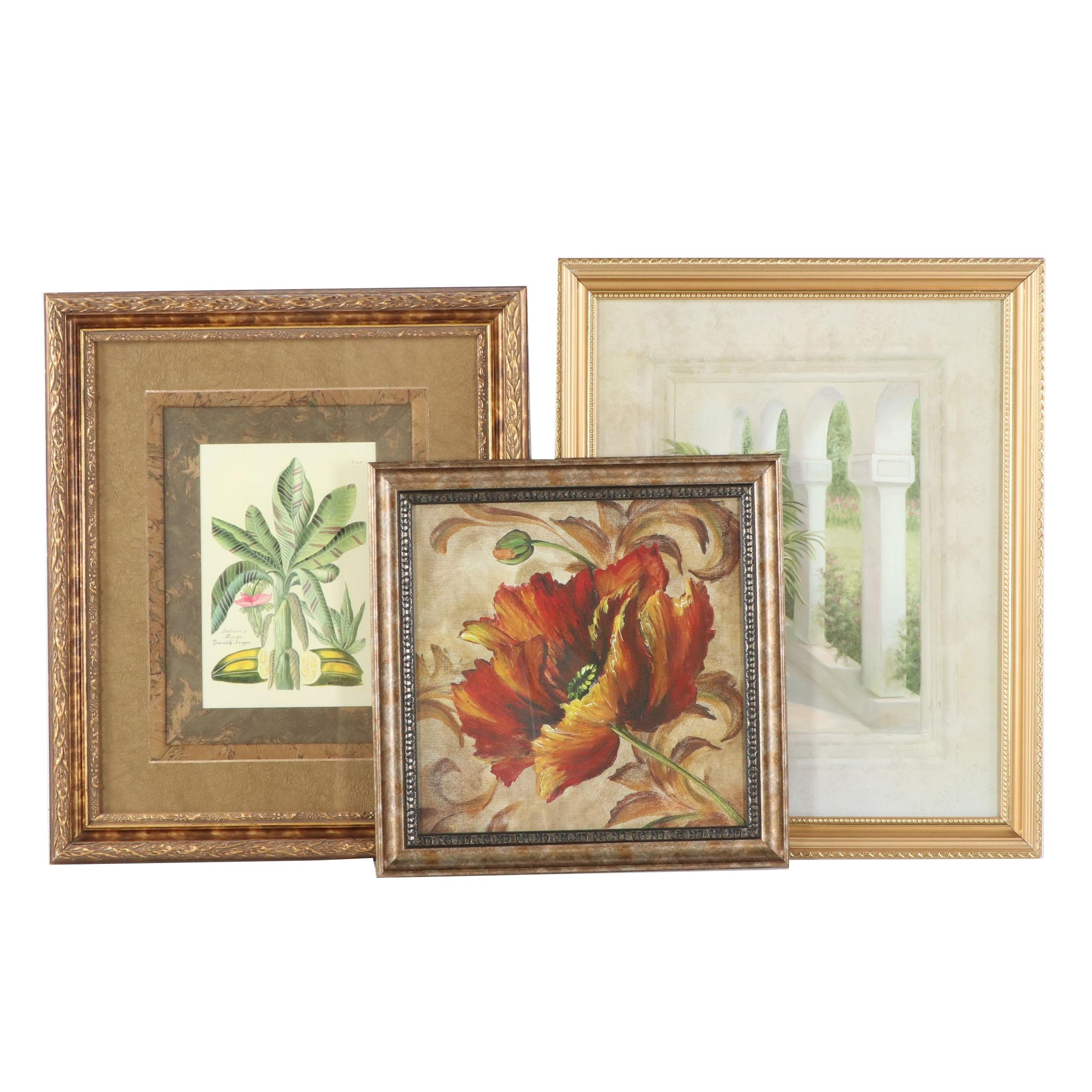 Offset Lithographs of Flowers and Plants