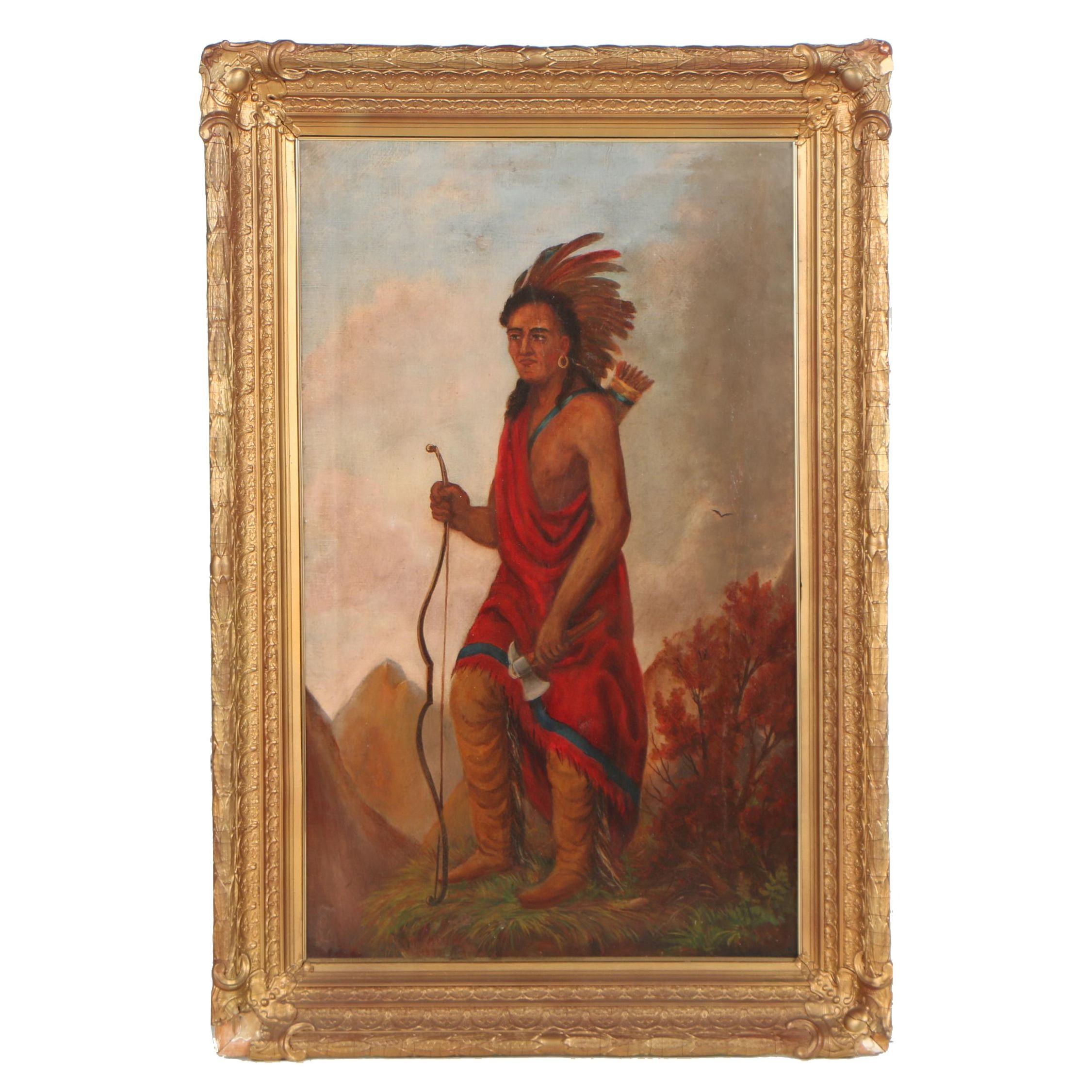 William Keil Jr. 1890 Oil Painting