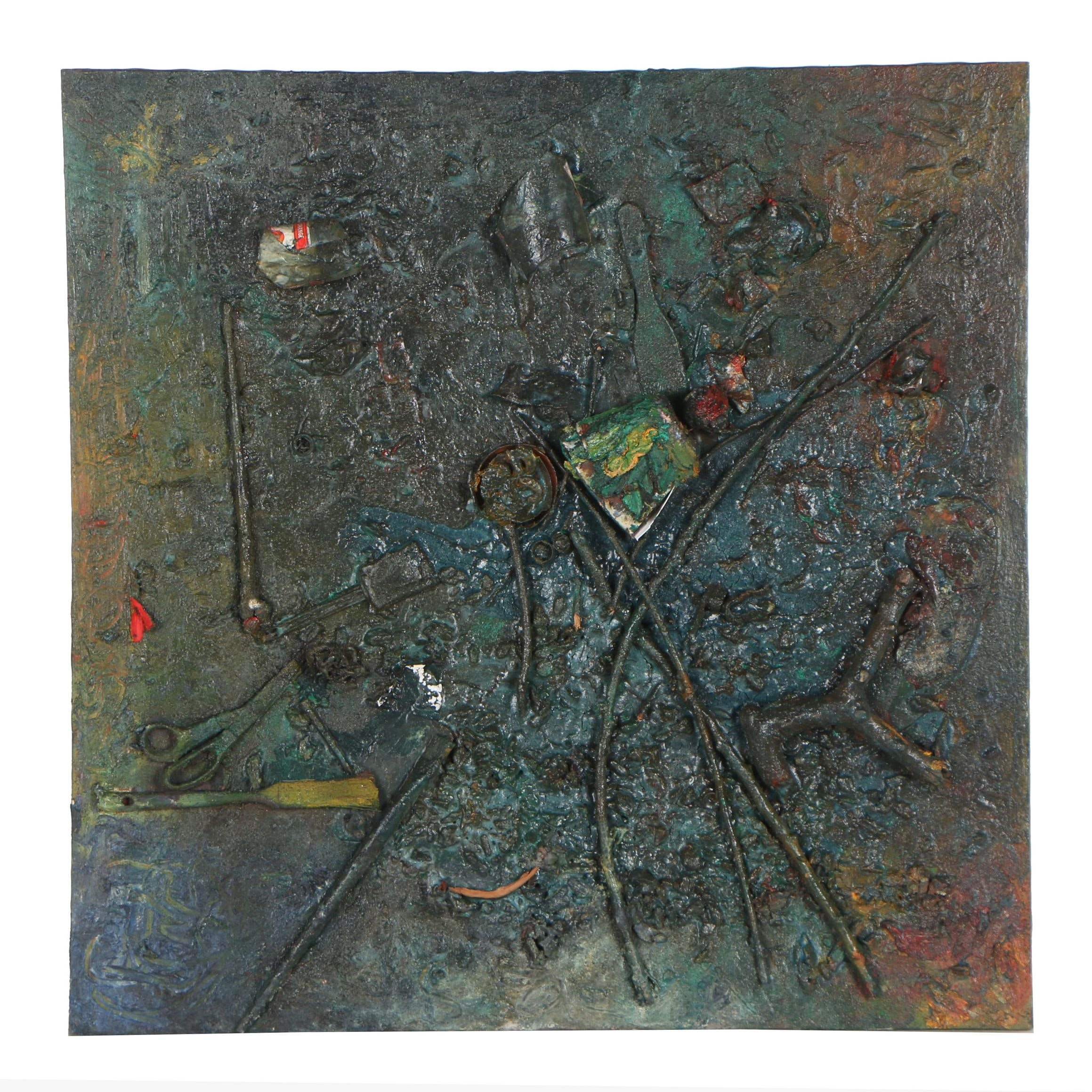 Louis Papp 1989 Mixed Media Painting