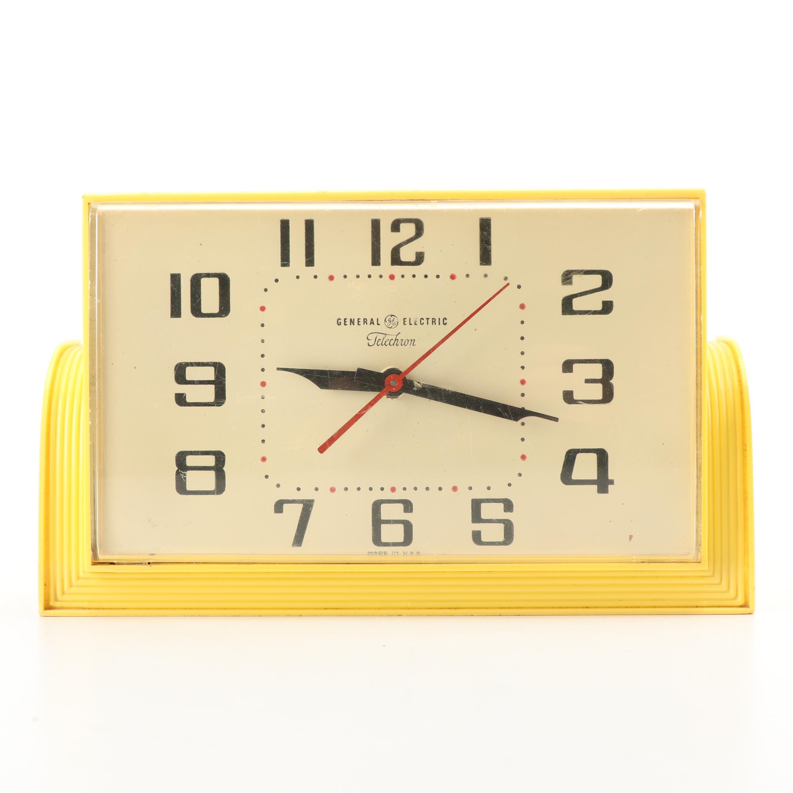 "General Electric ""Telechron"" Celulloid Clock"