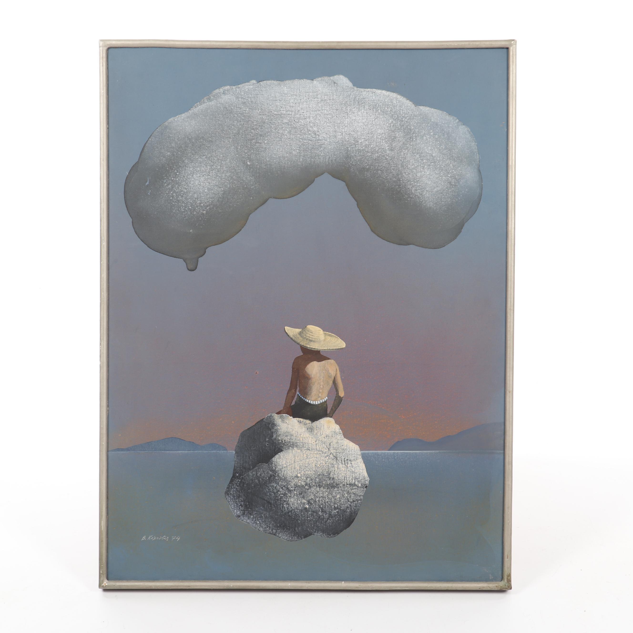 Vasilis Kelaidis Surreal Acrylic Painting
