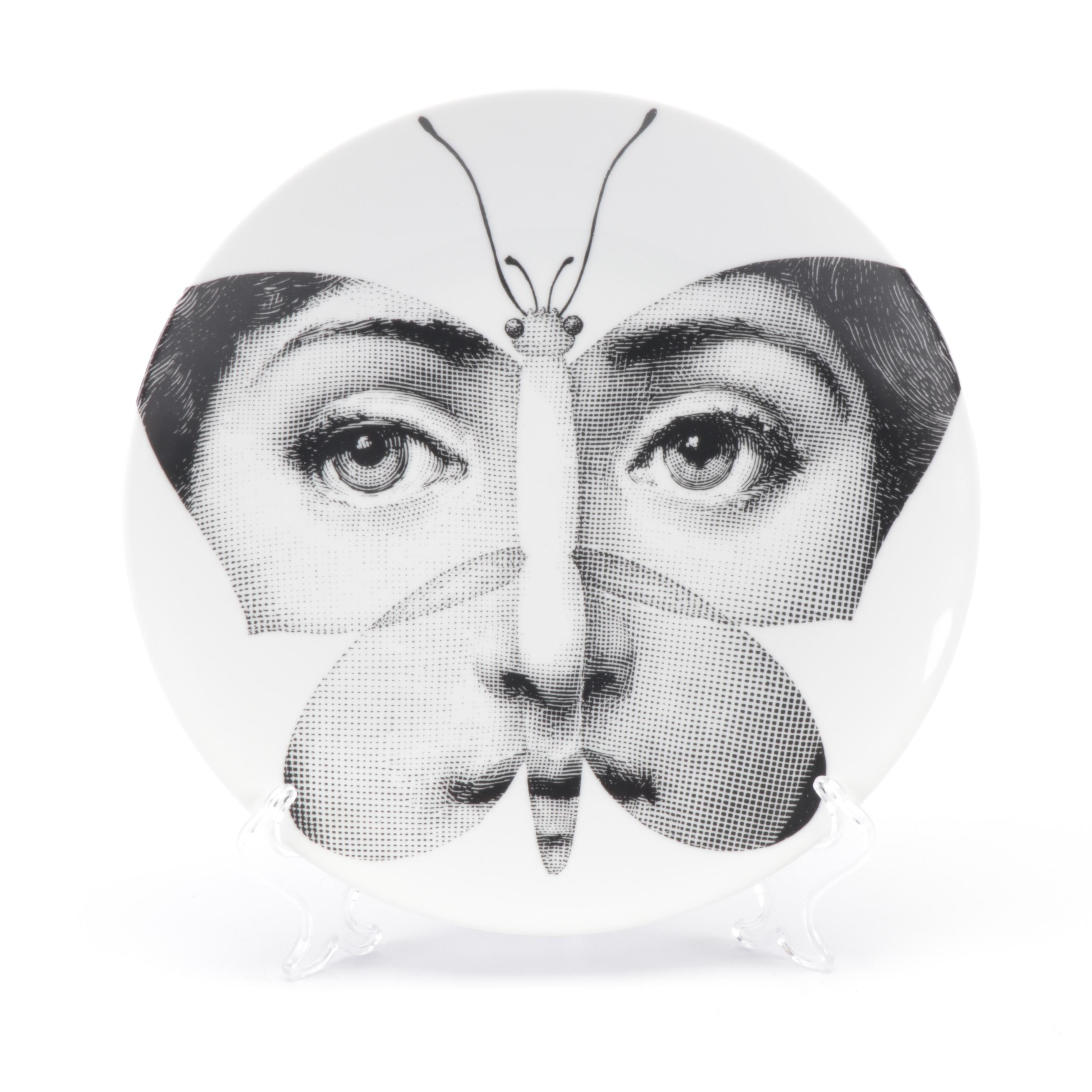 "Piero Fornasetti ""Tema e Variazioni"" Collector's Plate with Hanging Wire"