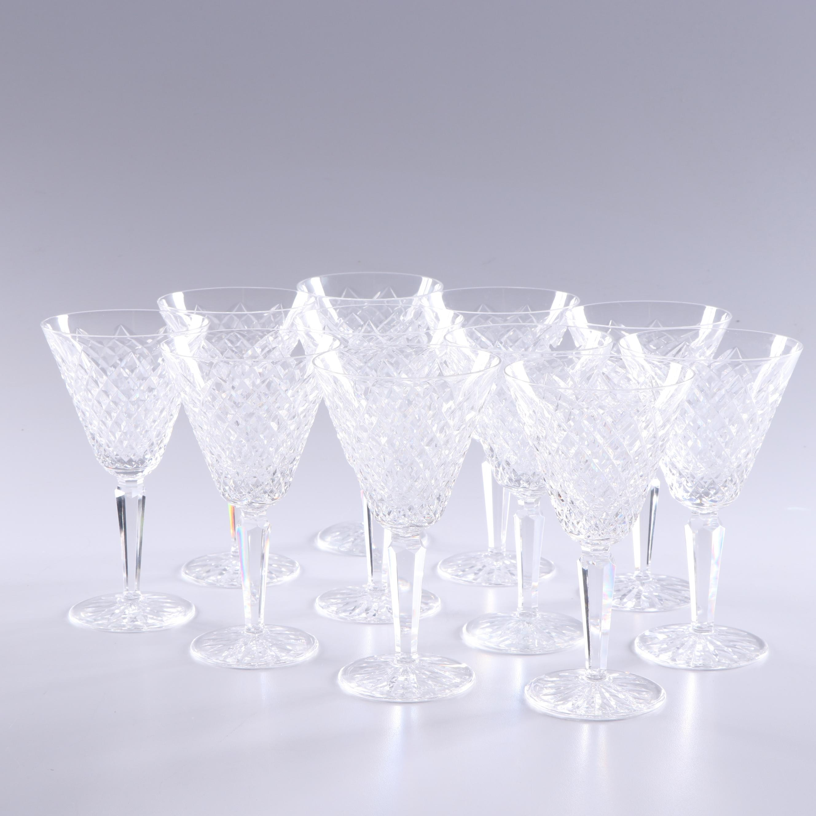 """Waterford Crystal """"Templemore"""" Water Goblets, Late 20th Century"""