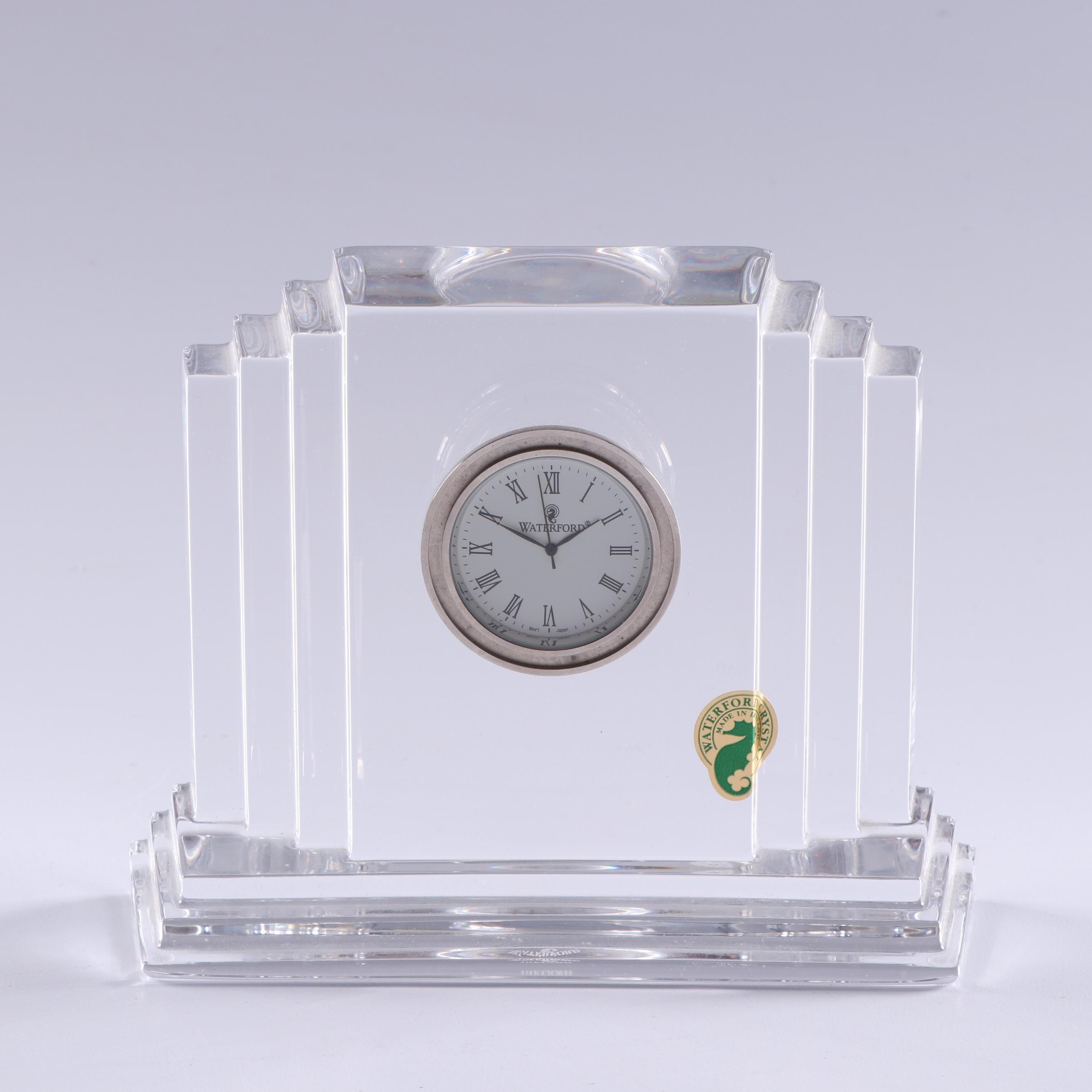 """Waterford Crystal """"Metropolitan"""" Desk Clock"""