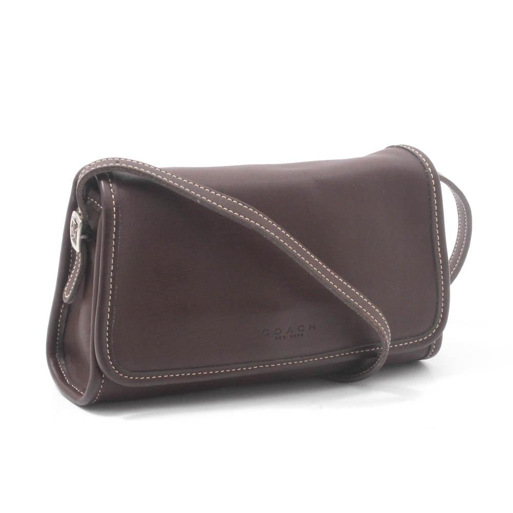 Coach Leather Flap-Front Shoulder Bag