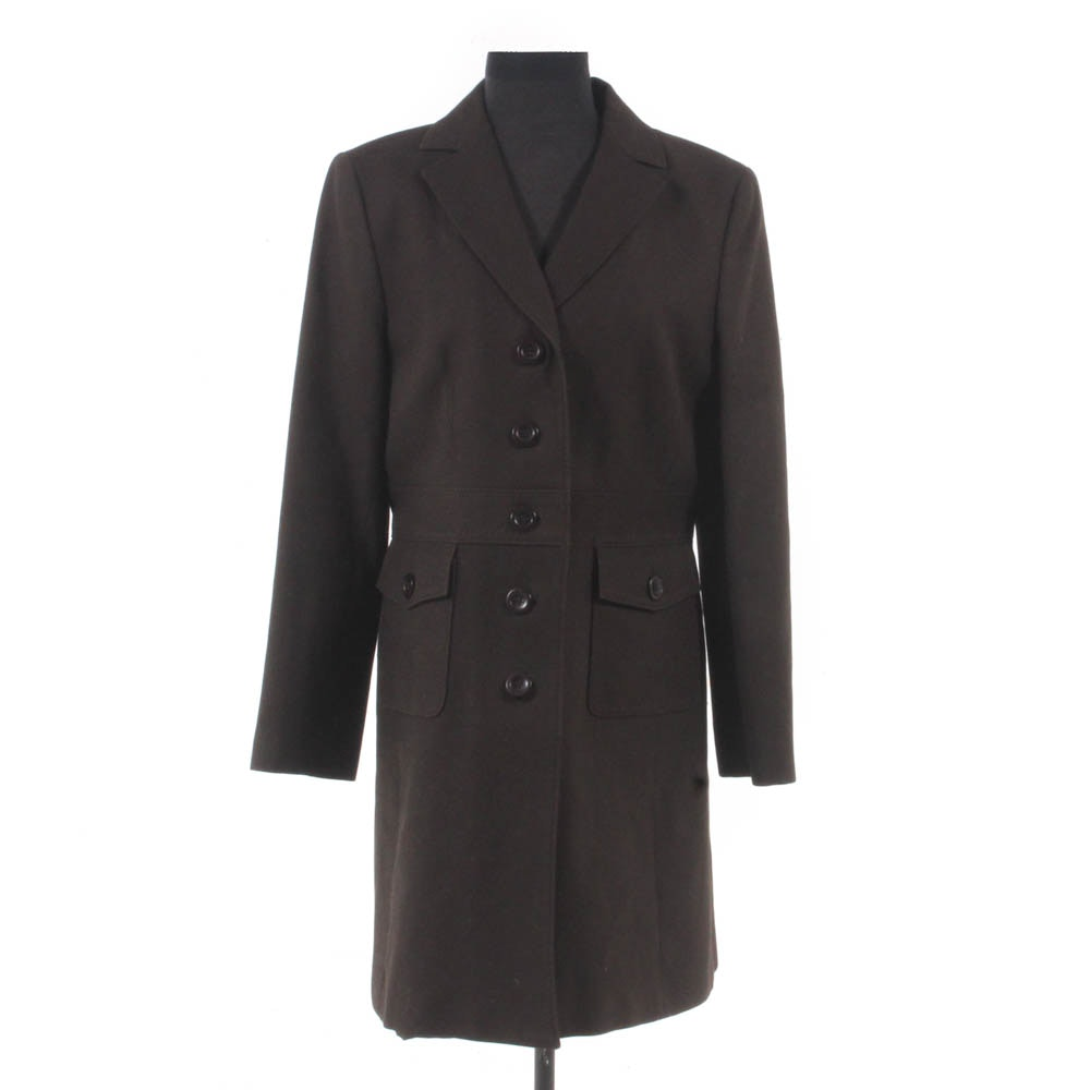 Ann Taylor Button-Front Military-Style Coat