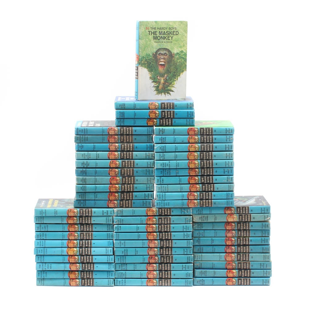 """Vintage """"The Hardy Boys"""" by Franklin W. Dixon 54-Volume Collection"""