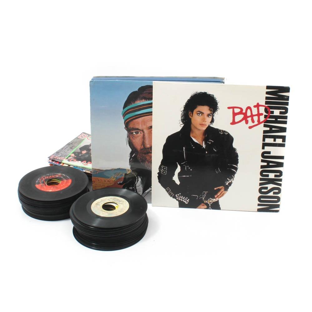 1970s-80s Records Featuring Michael Jackson, Elvis, Elton John, Joan Jett