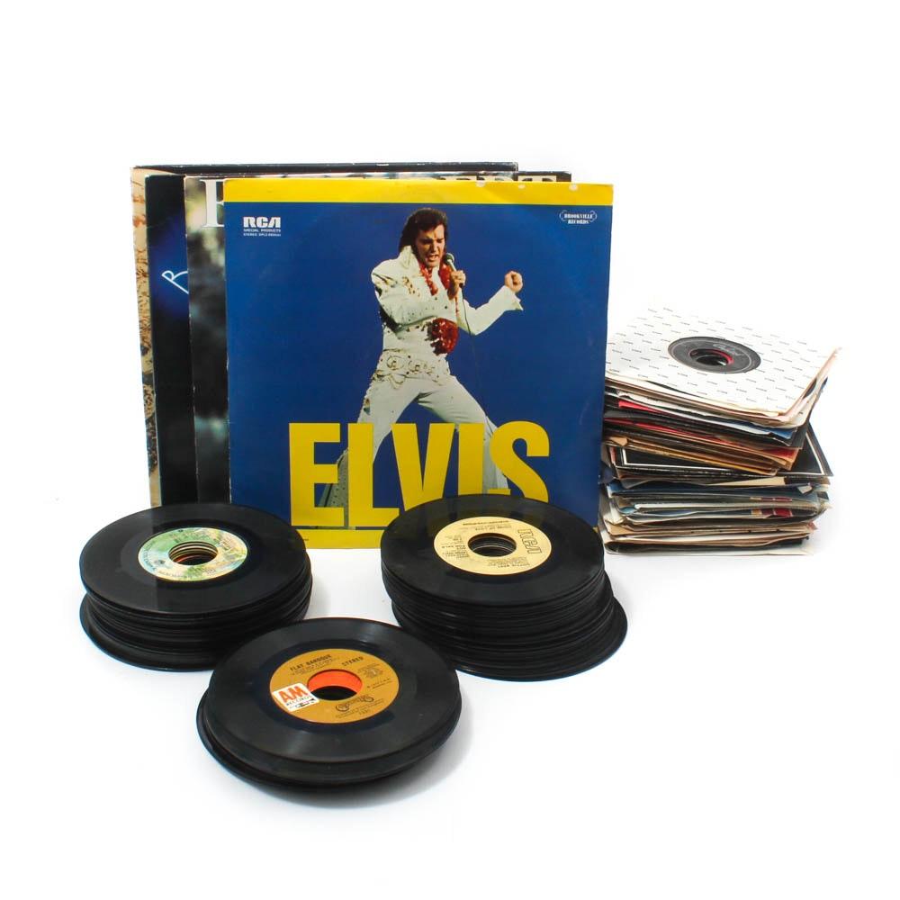 Vintage Records Featuring Elvis, Paul McCartney, John Denver, Nat King Cole
