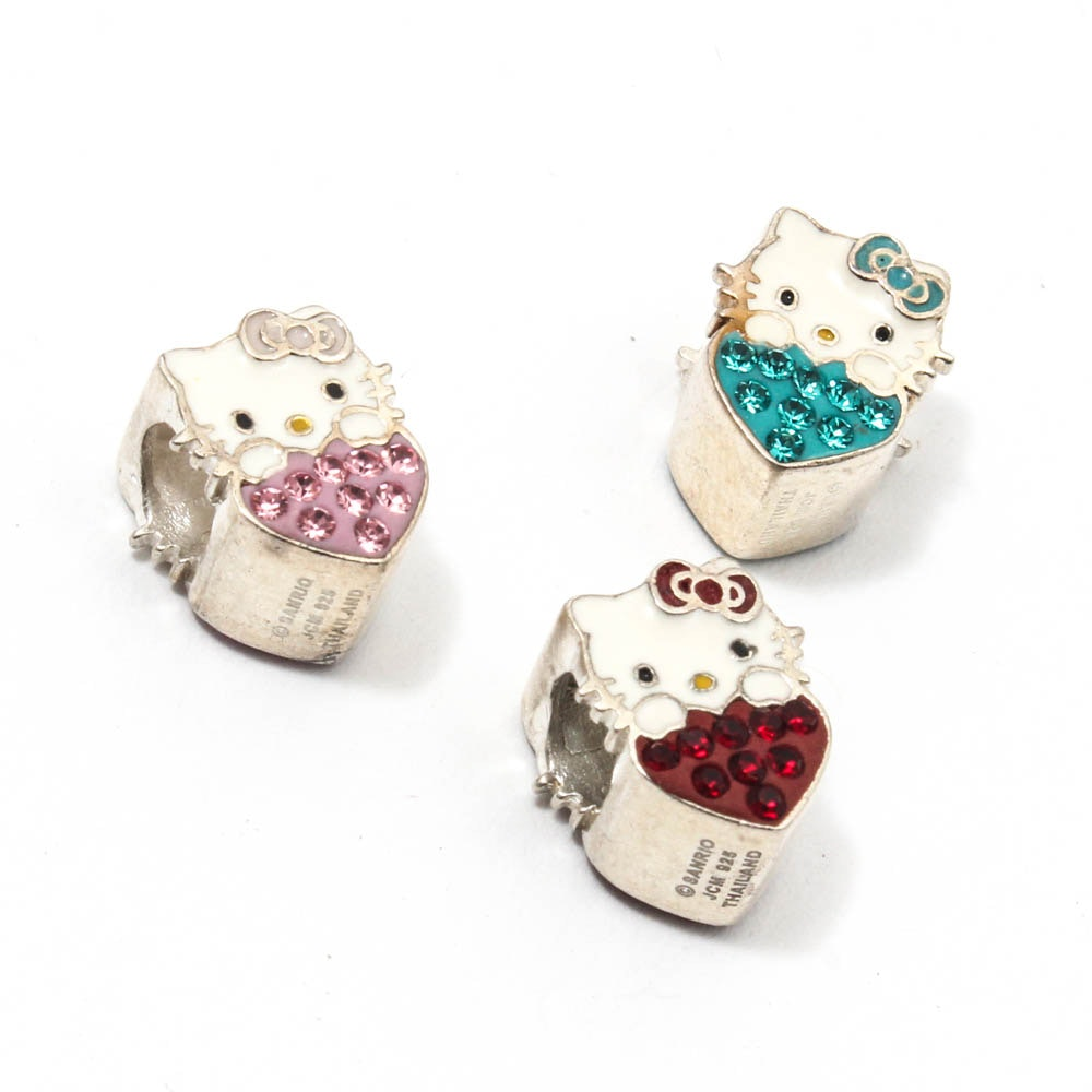 Sterling Silver Hello Kitty Beads