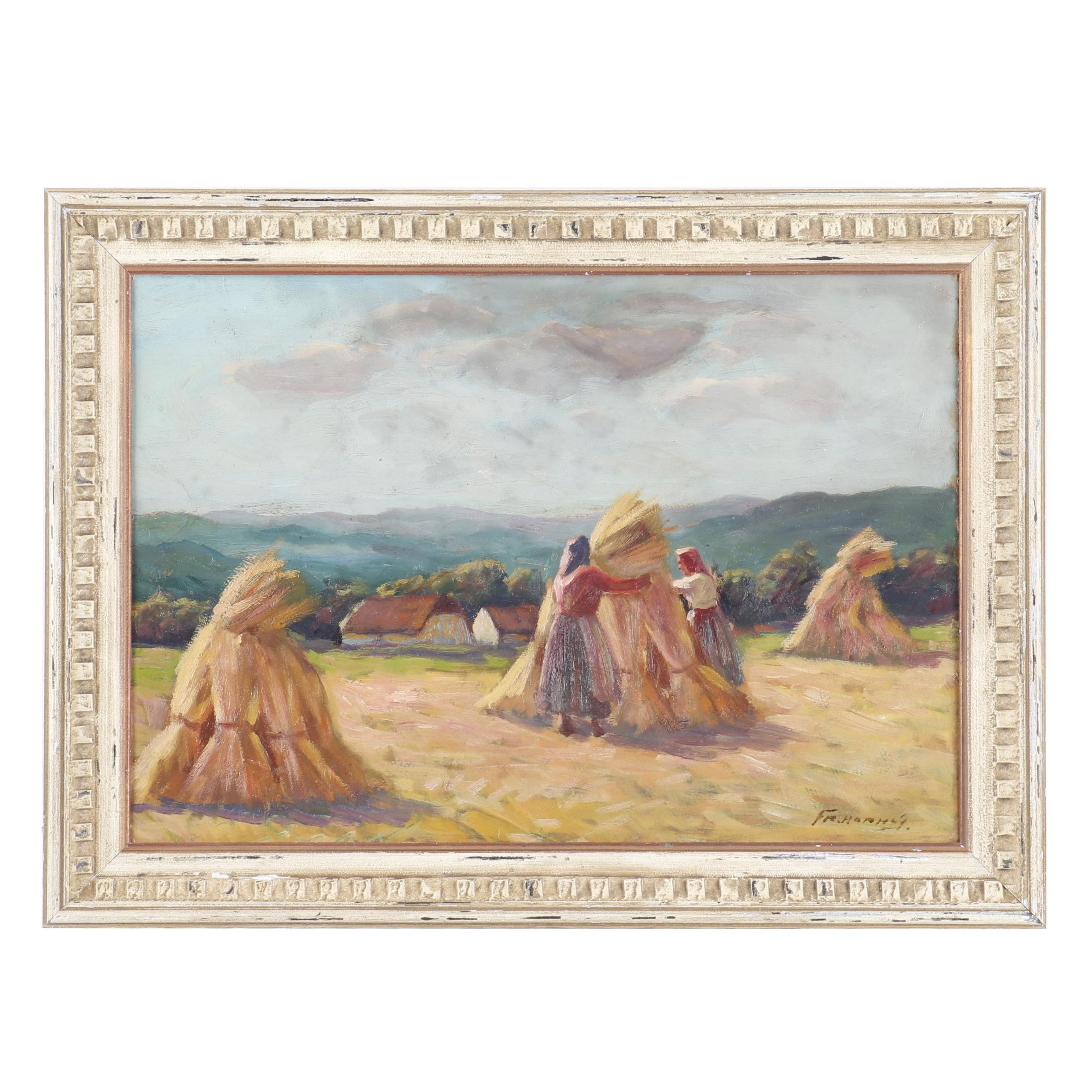 20th Century Pastoral Scene Oil Painting