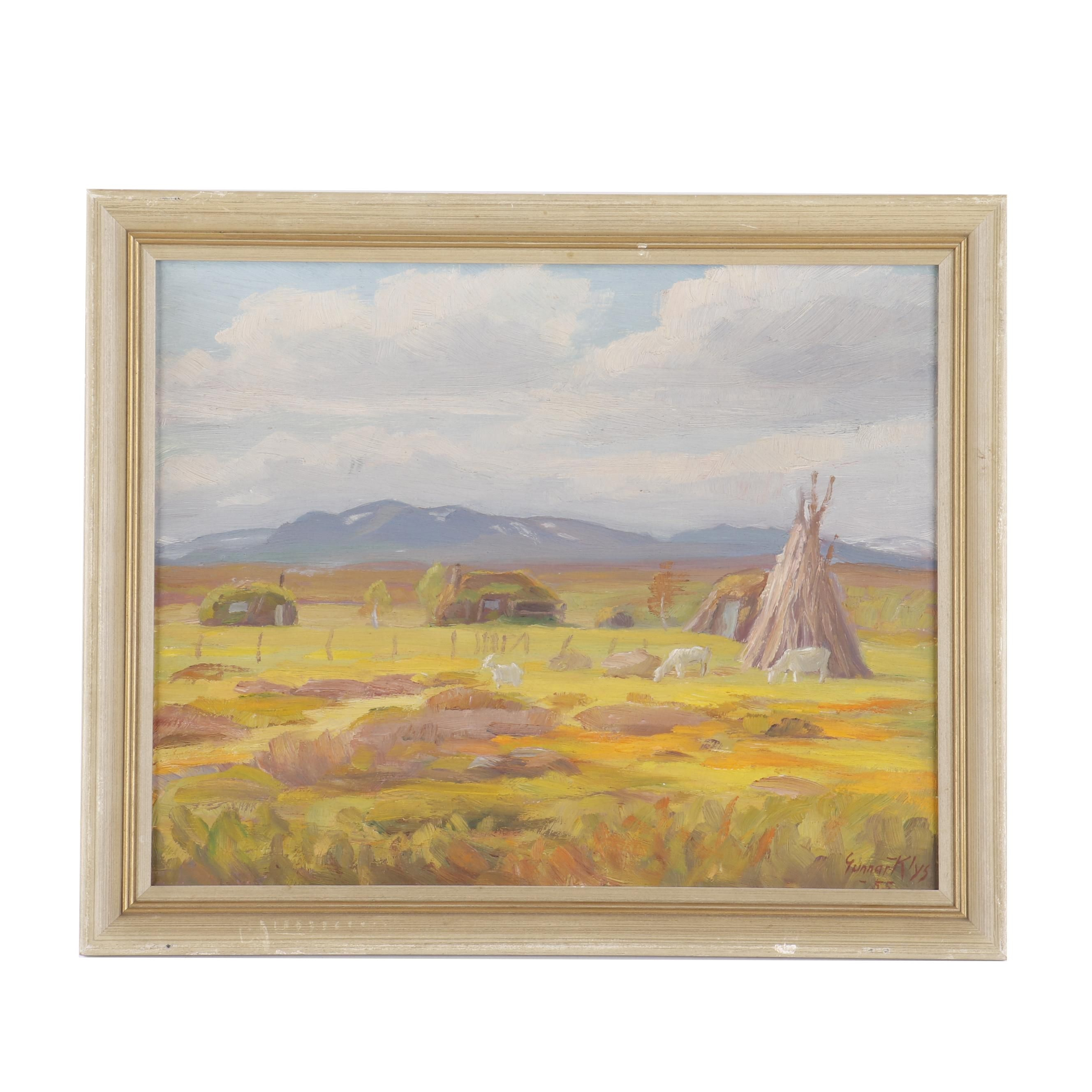Gunnar Klys Landscape Oil Painting