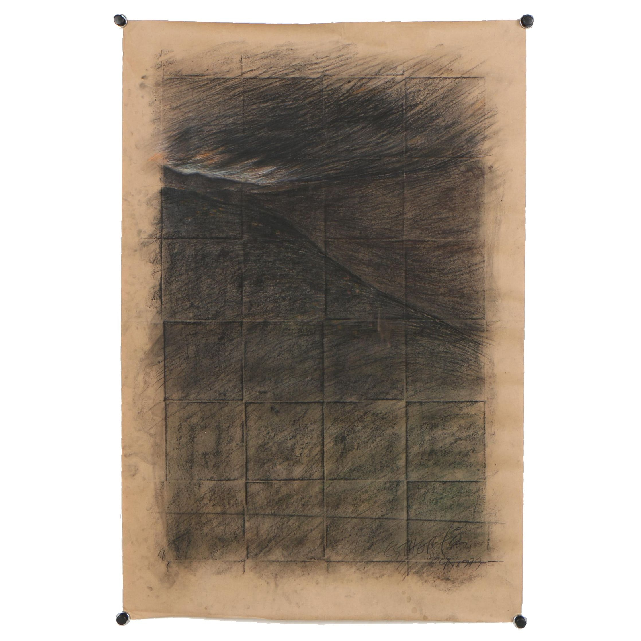 Esther Liu 1979 Mixed Media Drawing