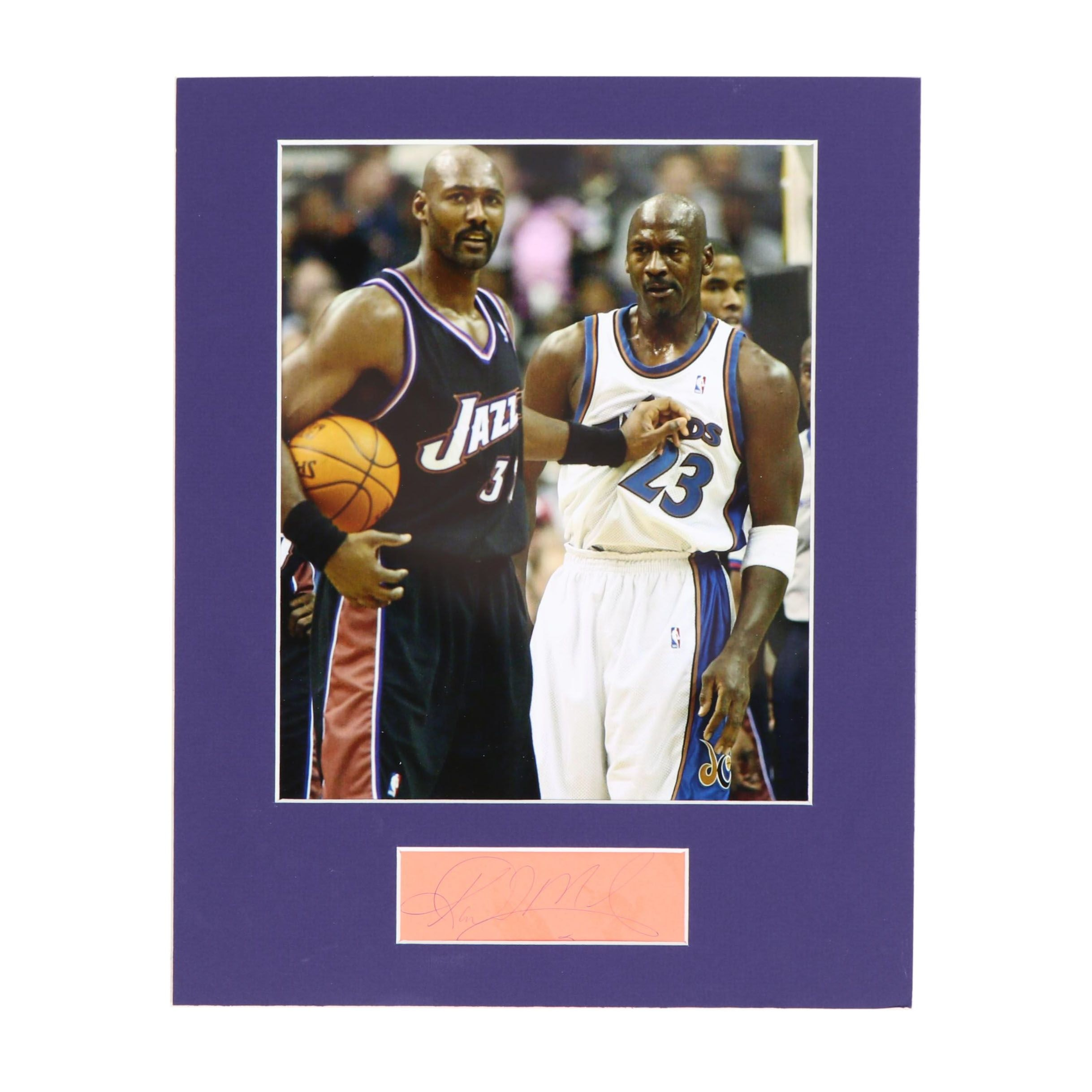 Karl Malone Autograph with Photo