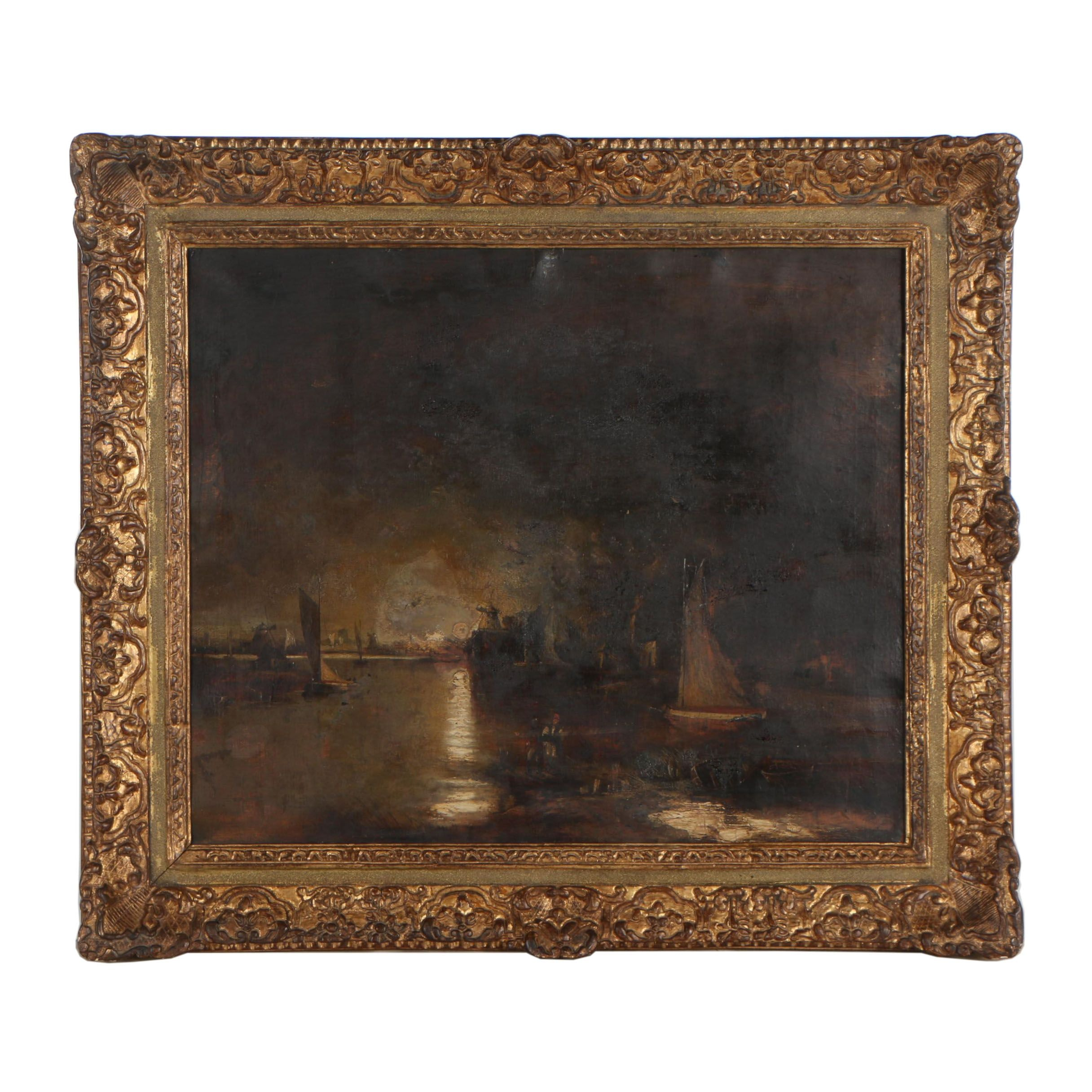 Late 19th Century Nautical Oil Painting