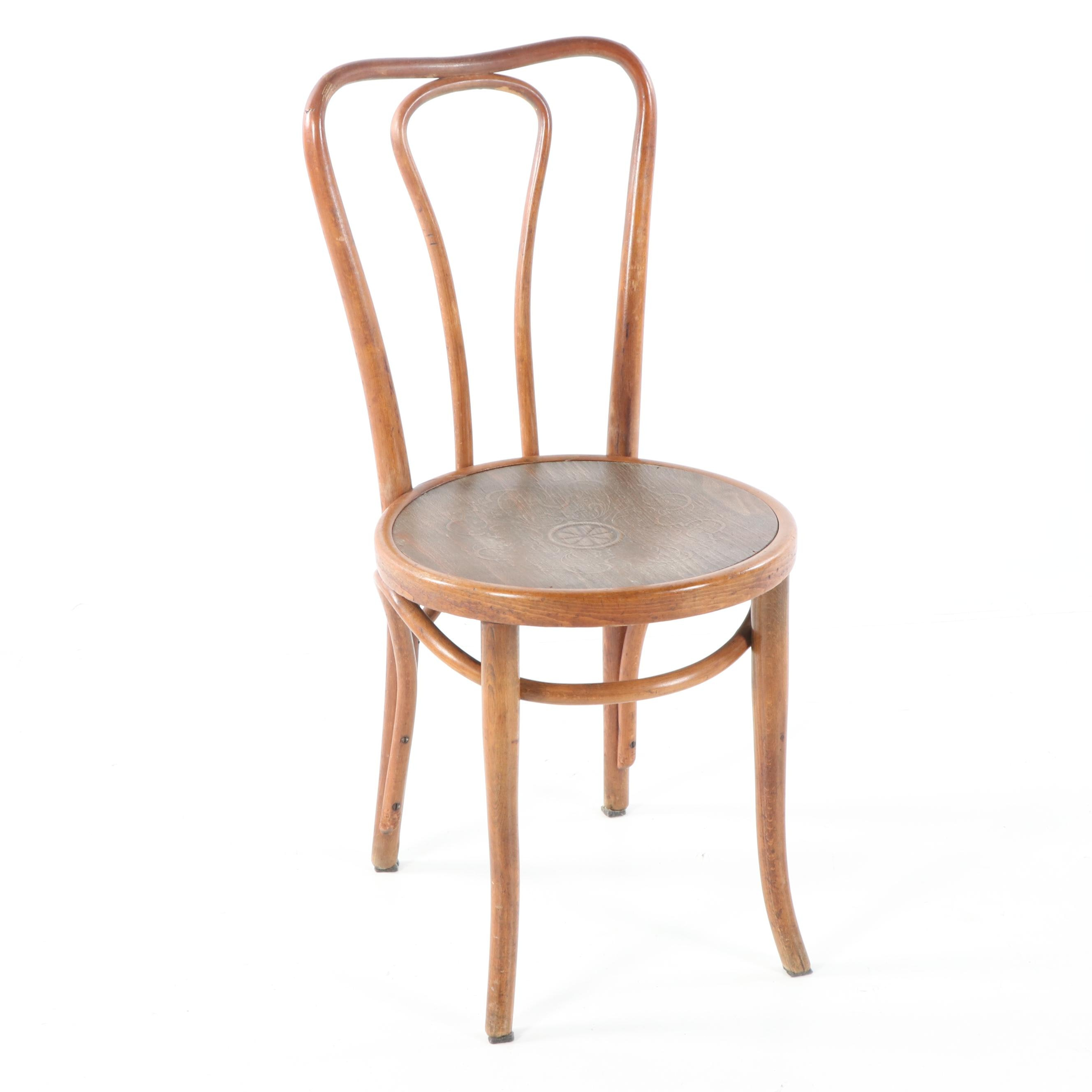 Bentwood Chair with Pressed Seat, 20th Century