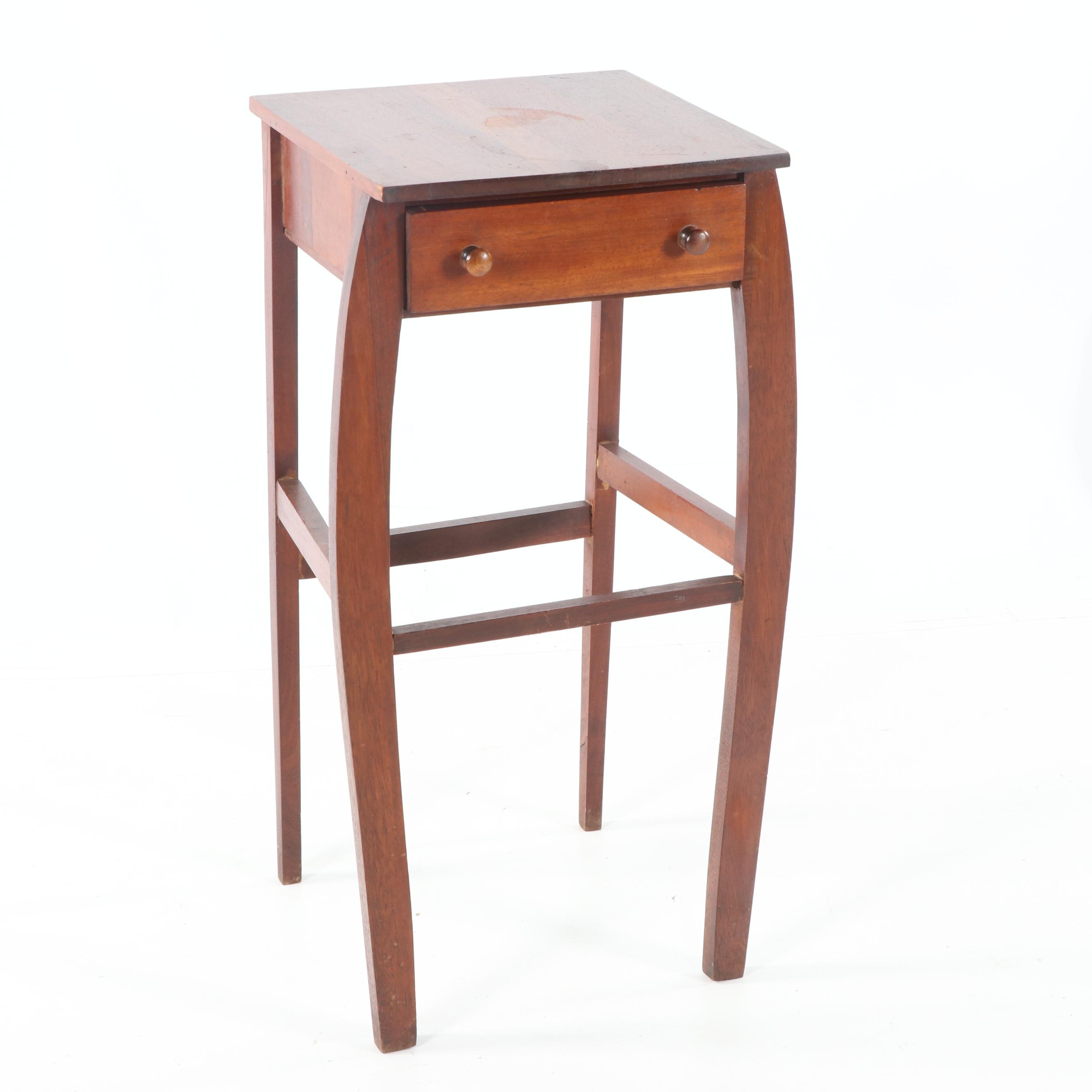 Mahogany Side Table with Drawer by Imperial, Mid-20th Century