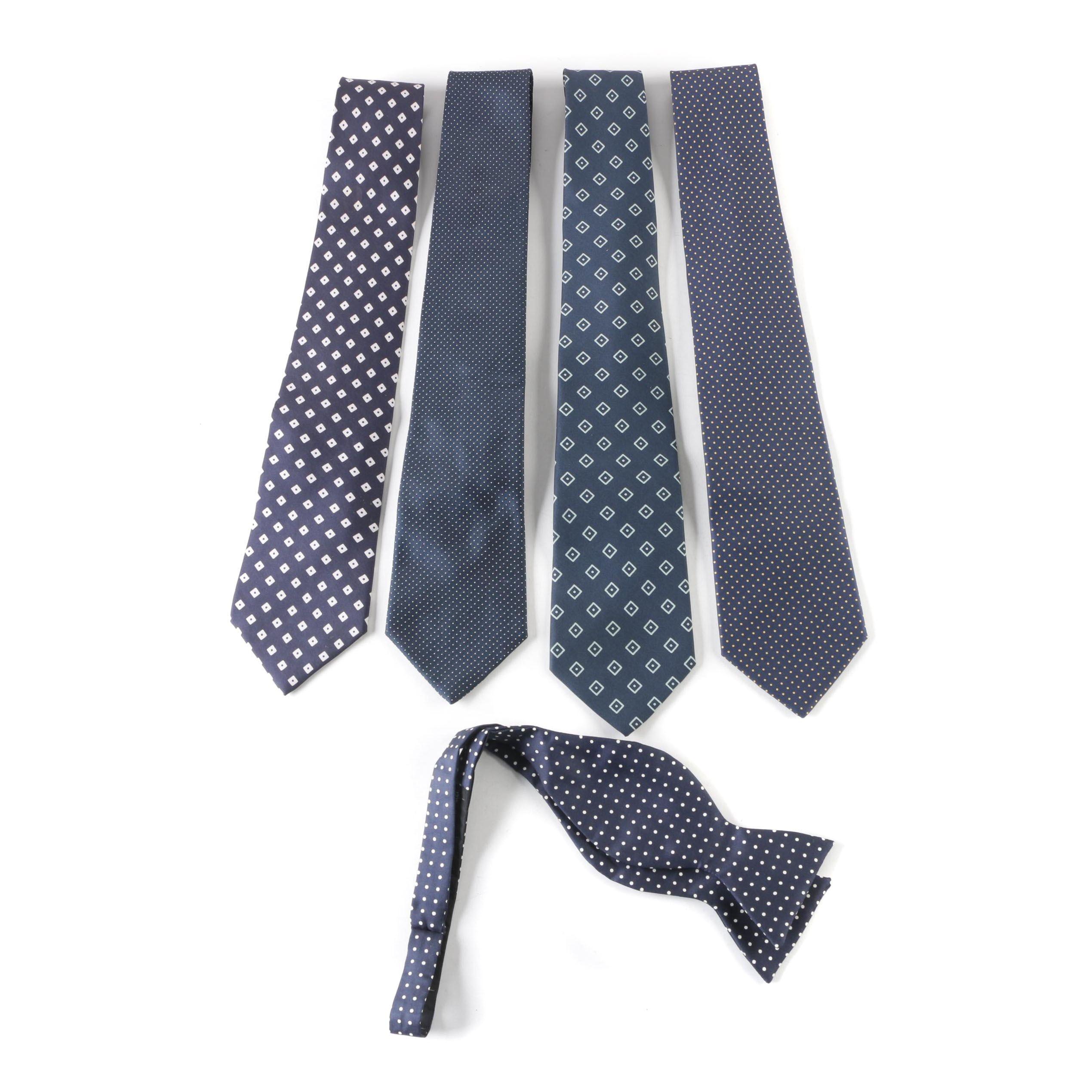 Charvet Place Vendôme Silk Neckties and Brooks Brothers Silk Bow Tie