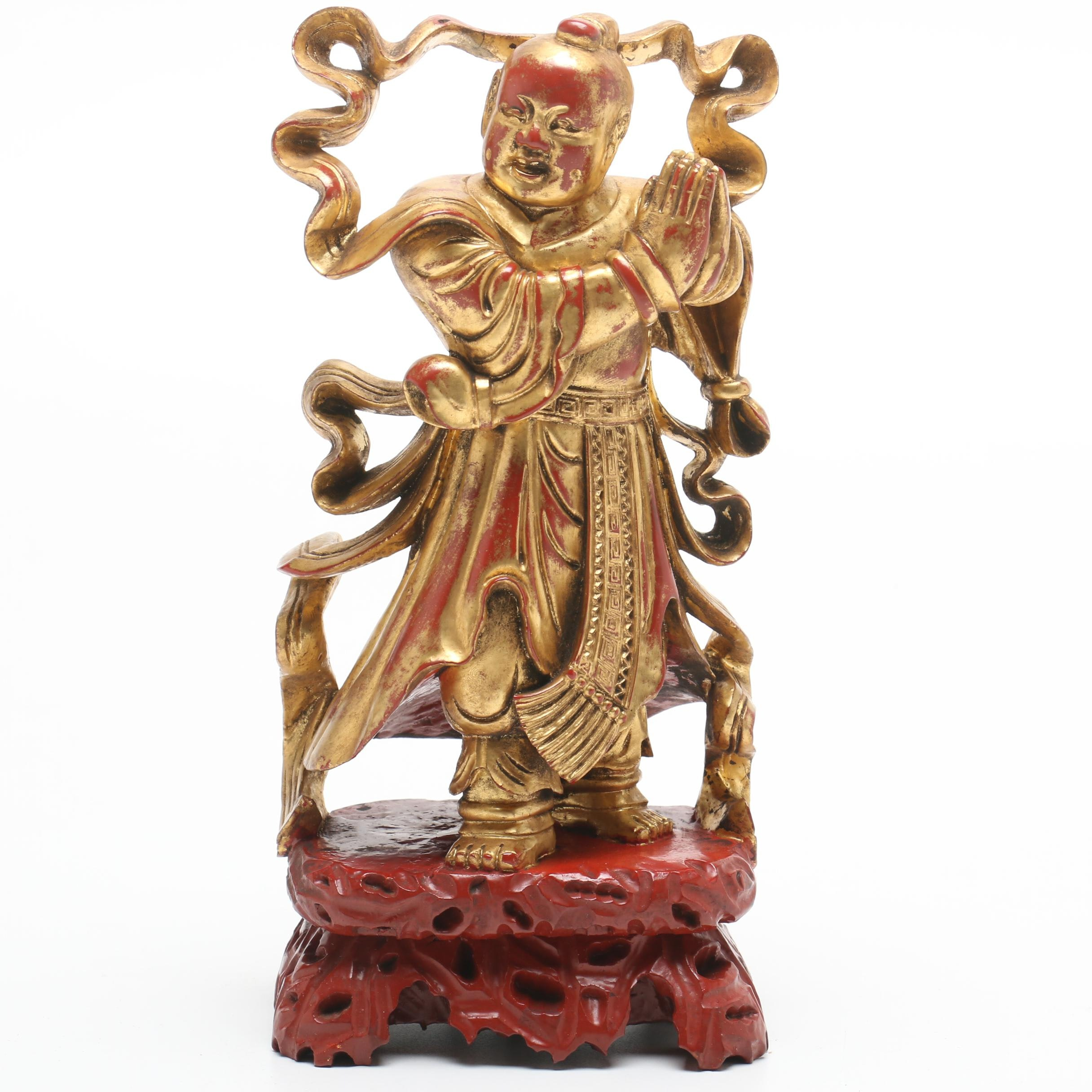 Carved Chinese Figure