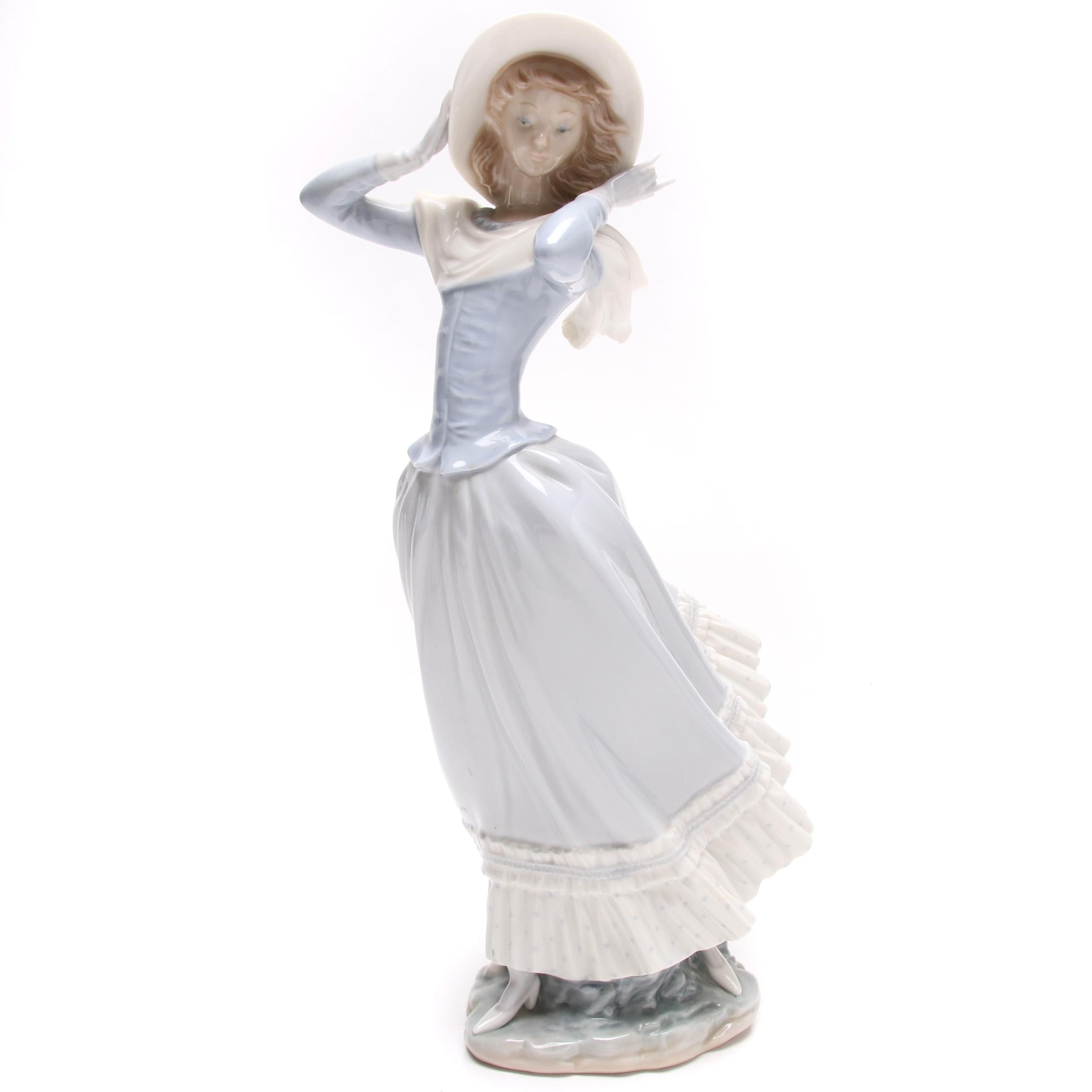 "Lladró ""Spring Breeze"" Porcelain Figurine"