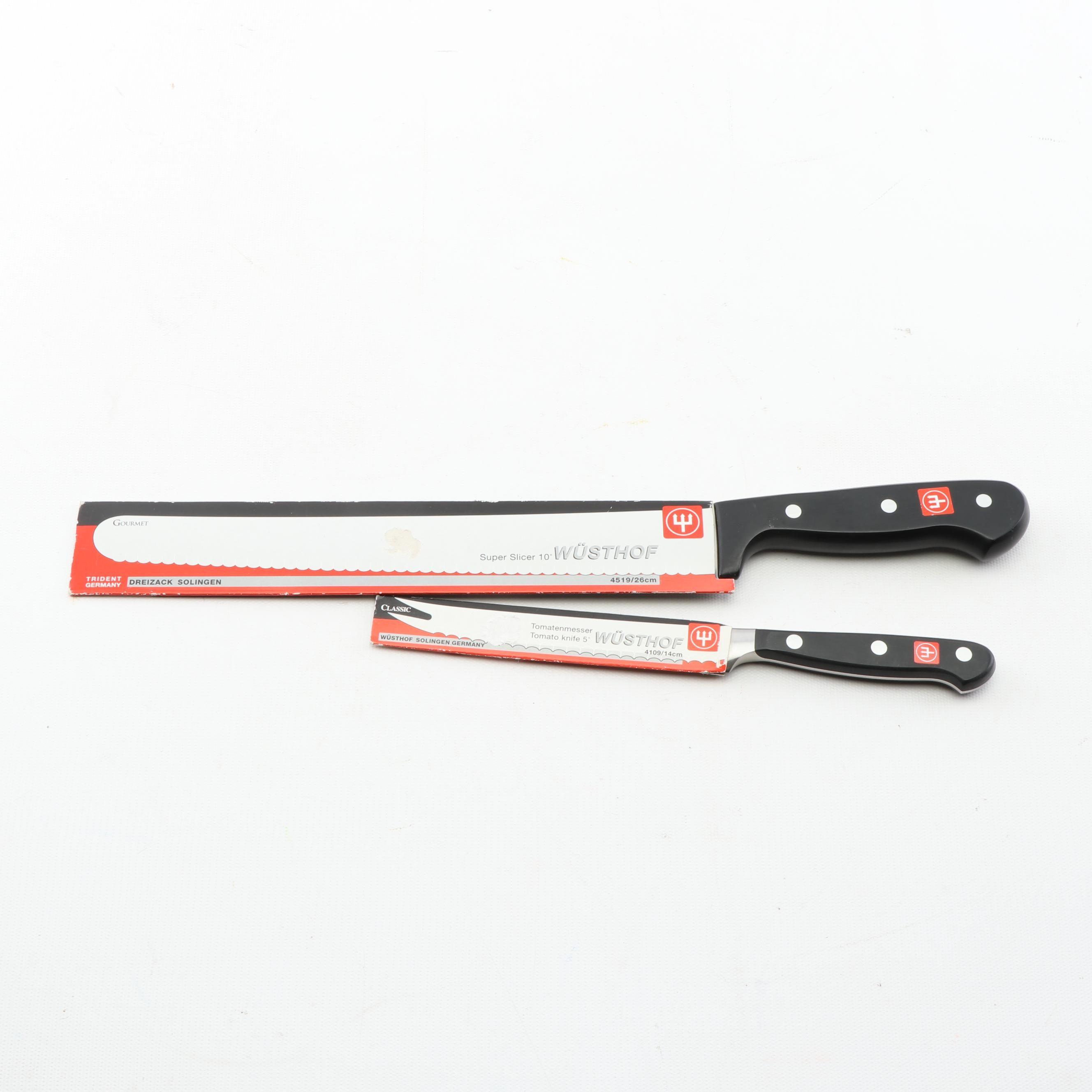 Wusthof Super Slicer and Tomato Knife