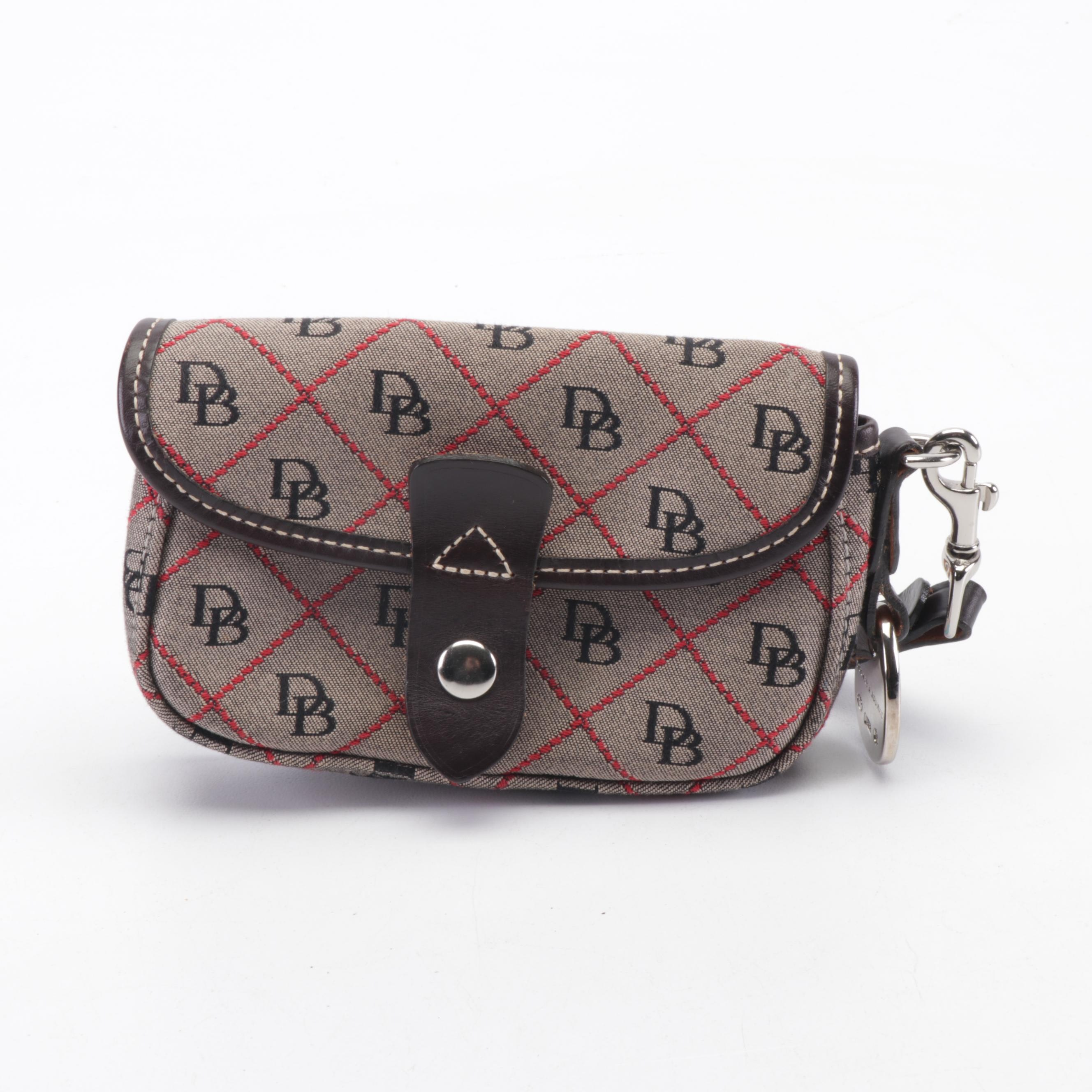 Dooney & Bourke Signature Canvas and Leather Wristlet