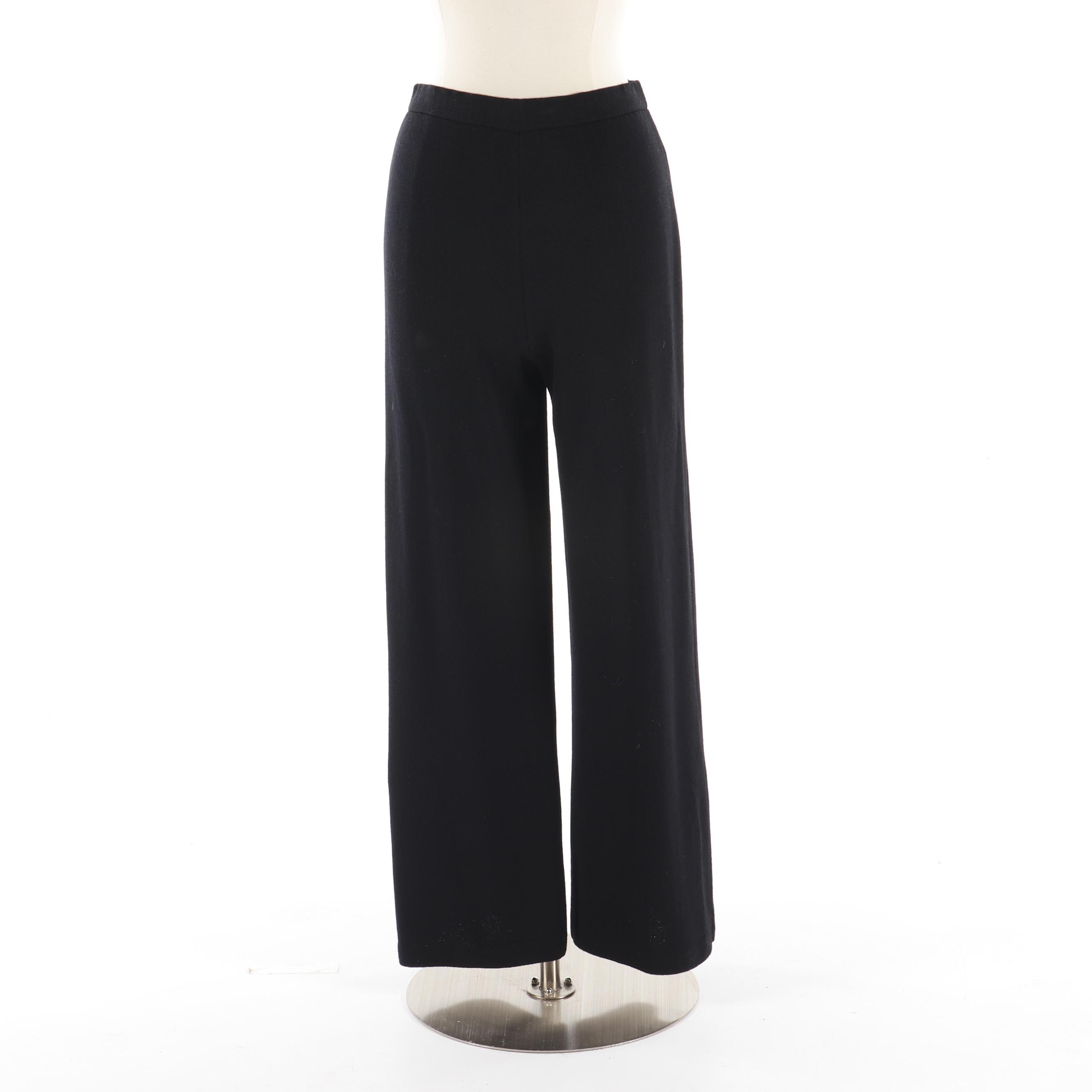 Women's St. John Evening Black Knit Pants