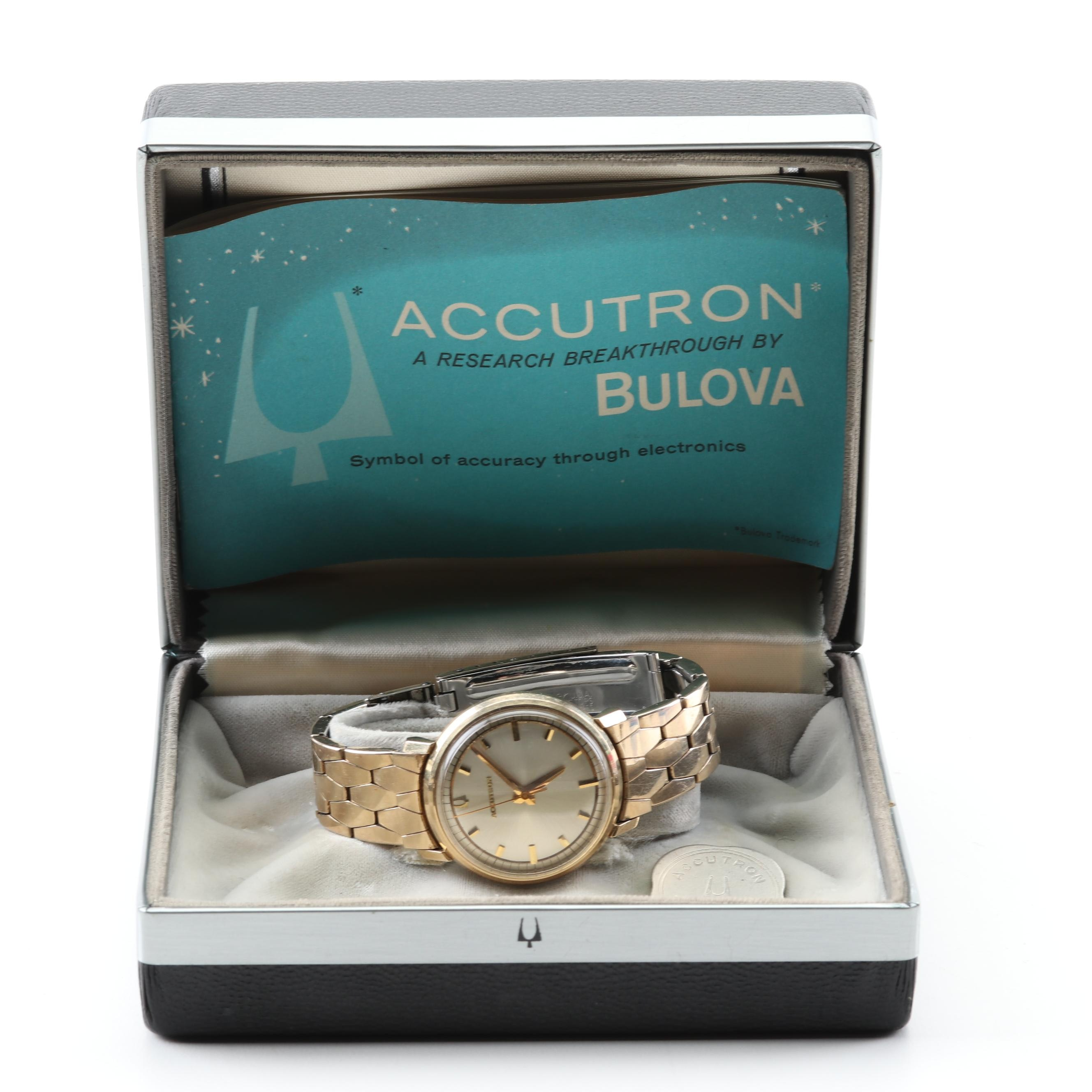 Vintage Accutron by Bulova 10K Gold Filled Waterproof Wristwatch