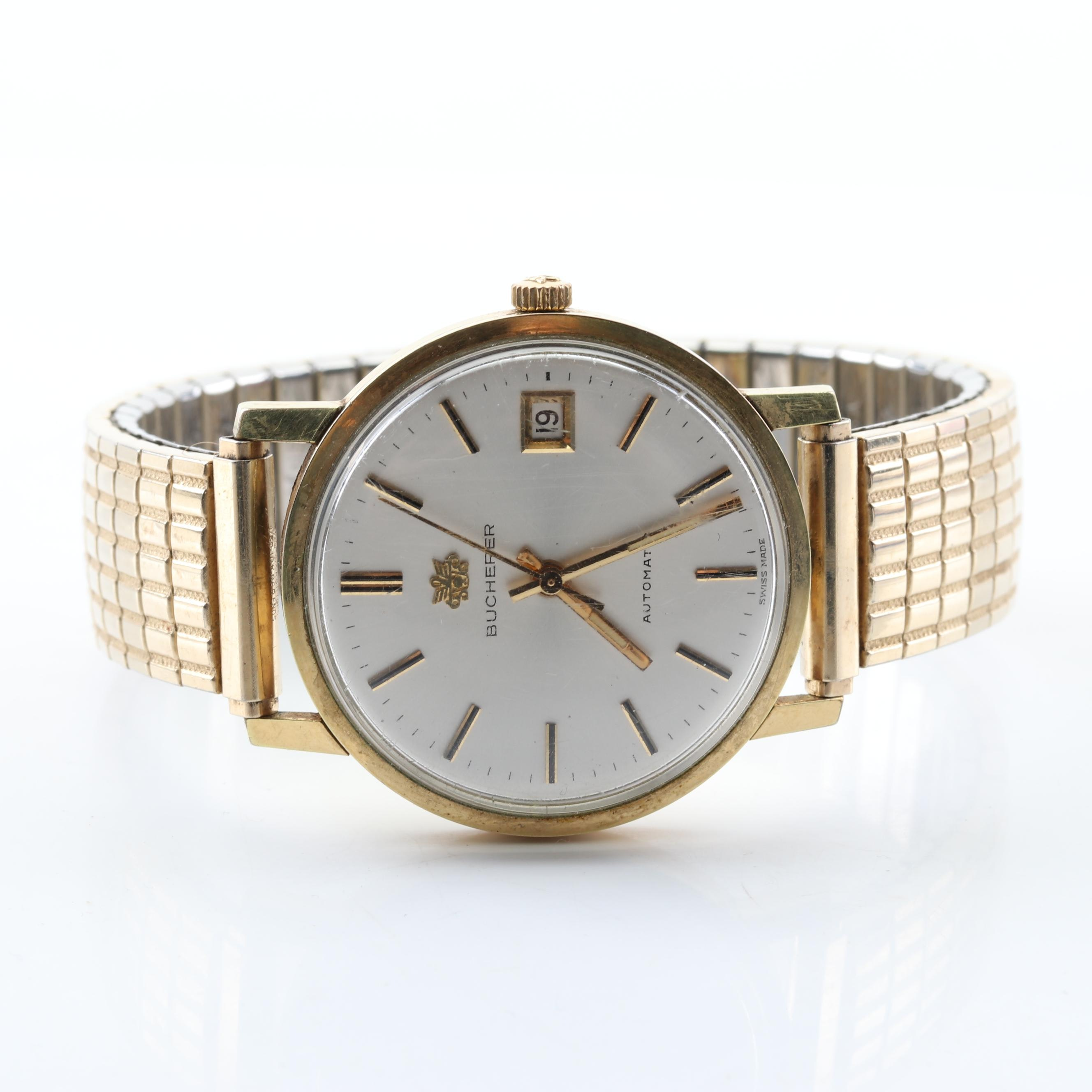 18K Yellow Gold Bucherer Swiss Made Automatic Wristwatch