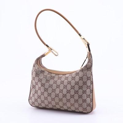 6a818008e959e2 Gucci GG Canvas and Leather Hobo Bag