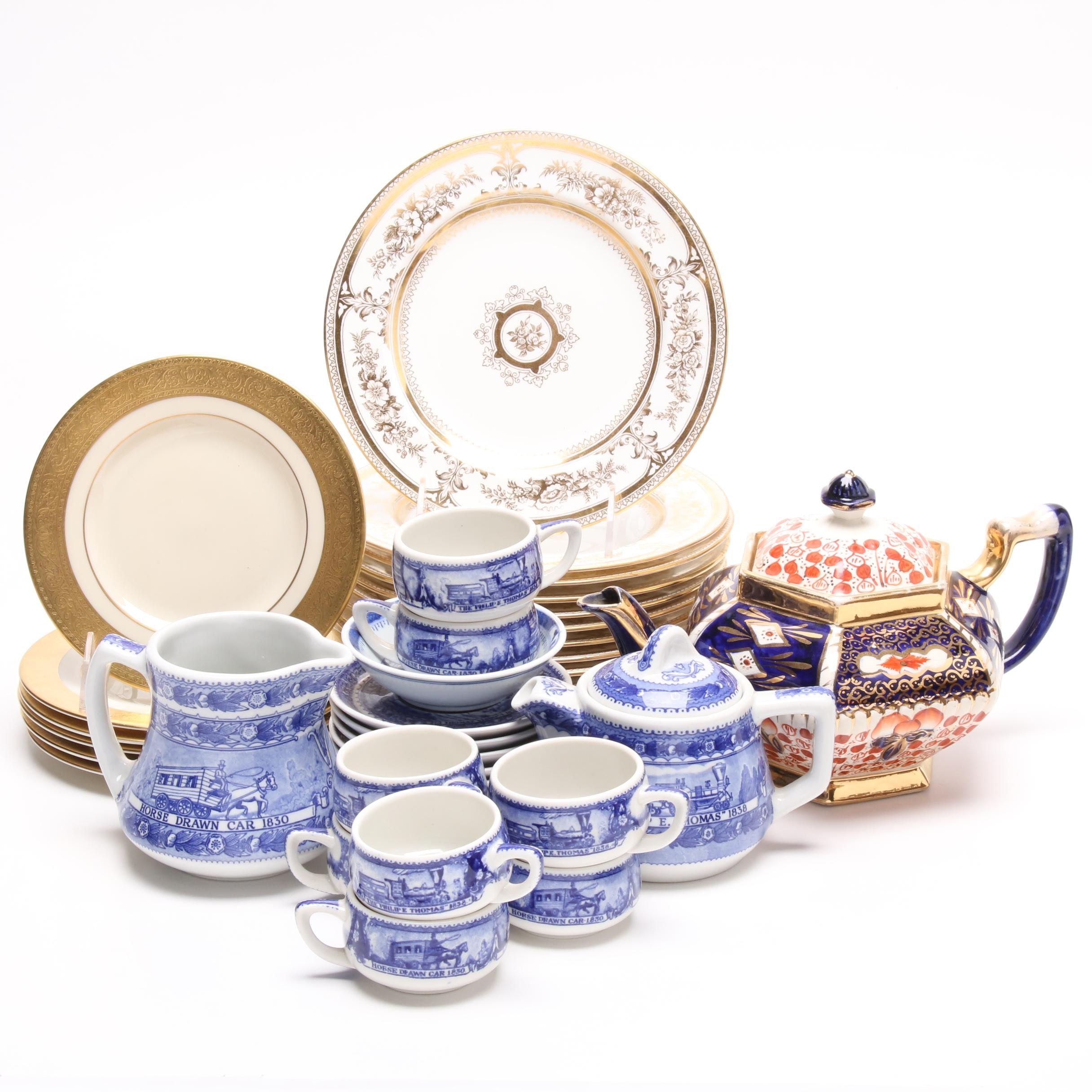 Lenox, Wedgwood, Scammell's Lamberton and Shenango Railroad Tableware