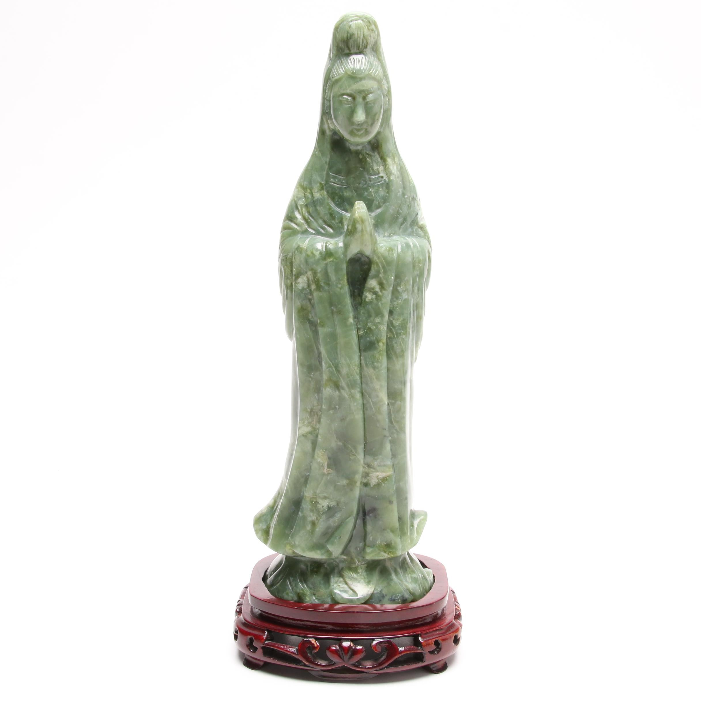 Chinese Carved Serpentine Sculpture