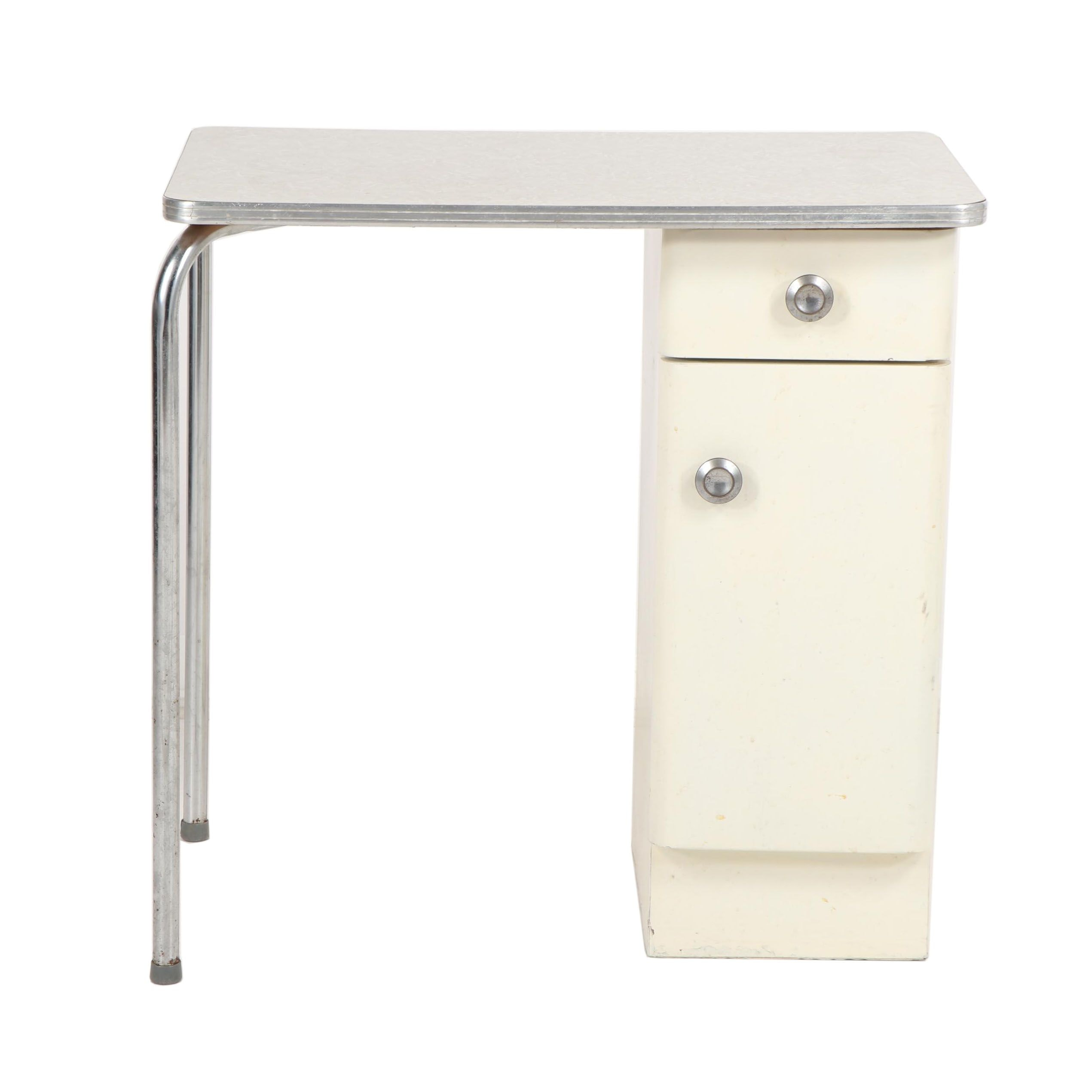 Formica and Metal Desk, Mid-20th Century