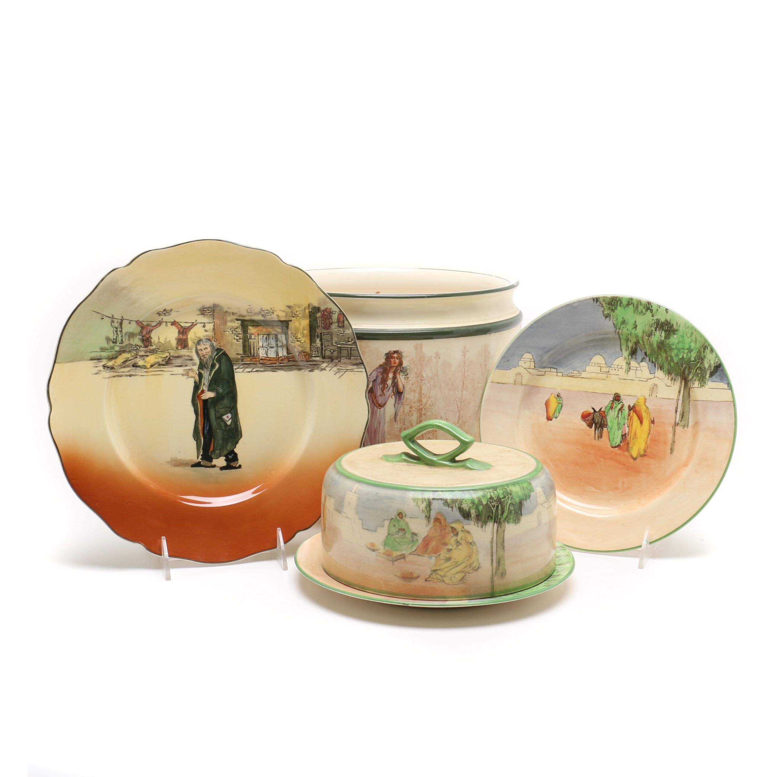 Royal Doulton Planter and Tableware including Dickens Ware