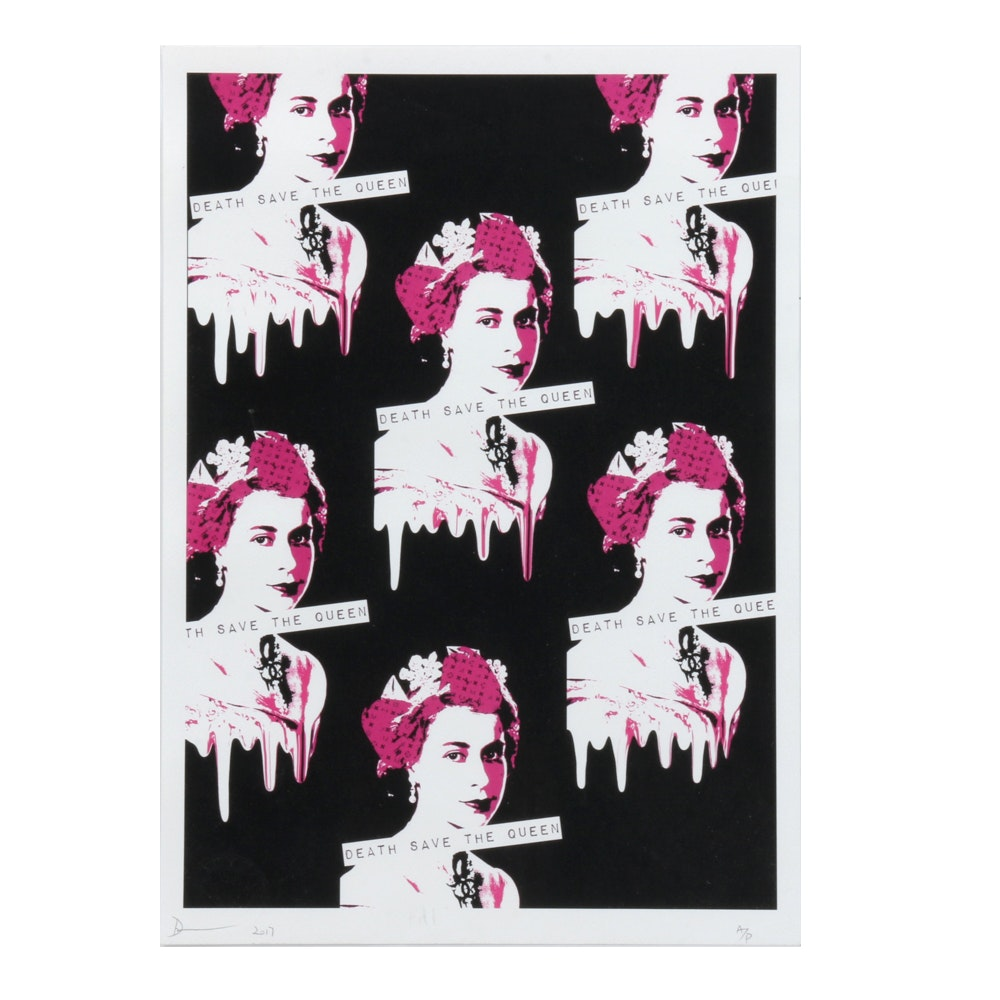 "Death NYC Limited Edition Street Art Offset Print ""Queen Melt"""