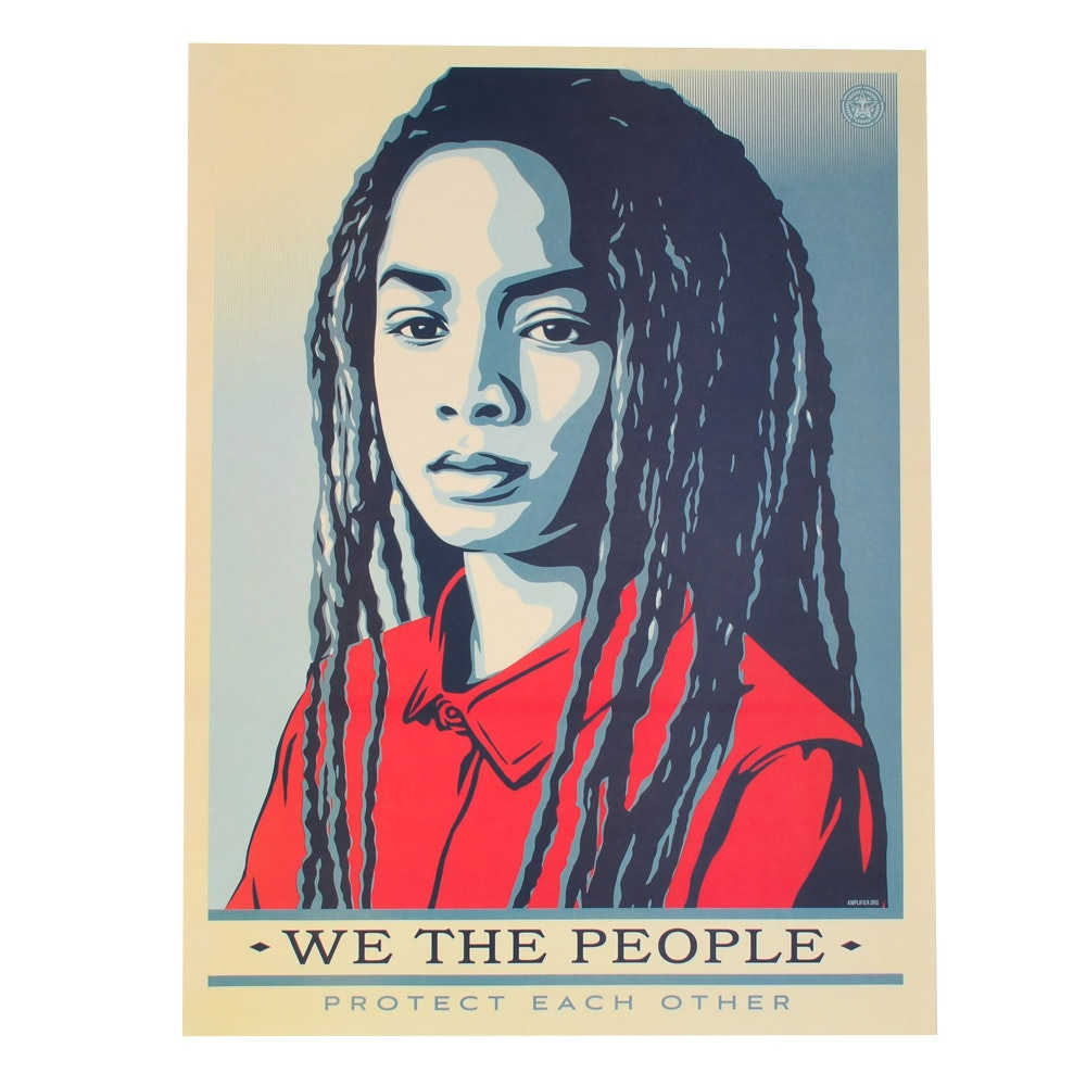 "Shepard Fairey Offset Print ""We the People: Protect Each Other"""