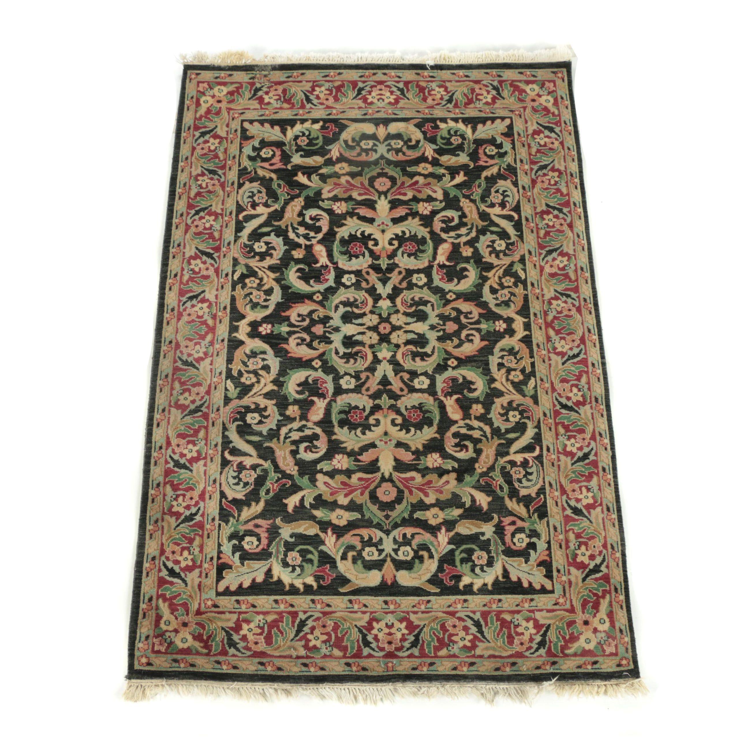 """Surya """"Adana"""" Hand-Loomed Indian Foliate Wool Area Rug"""