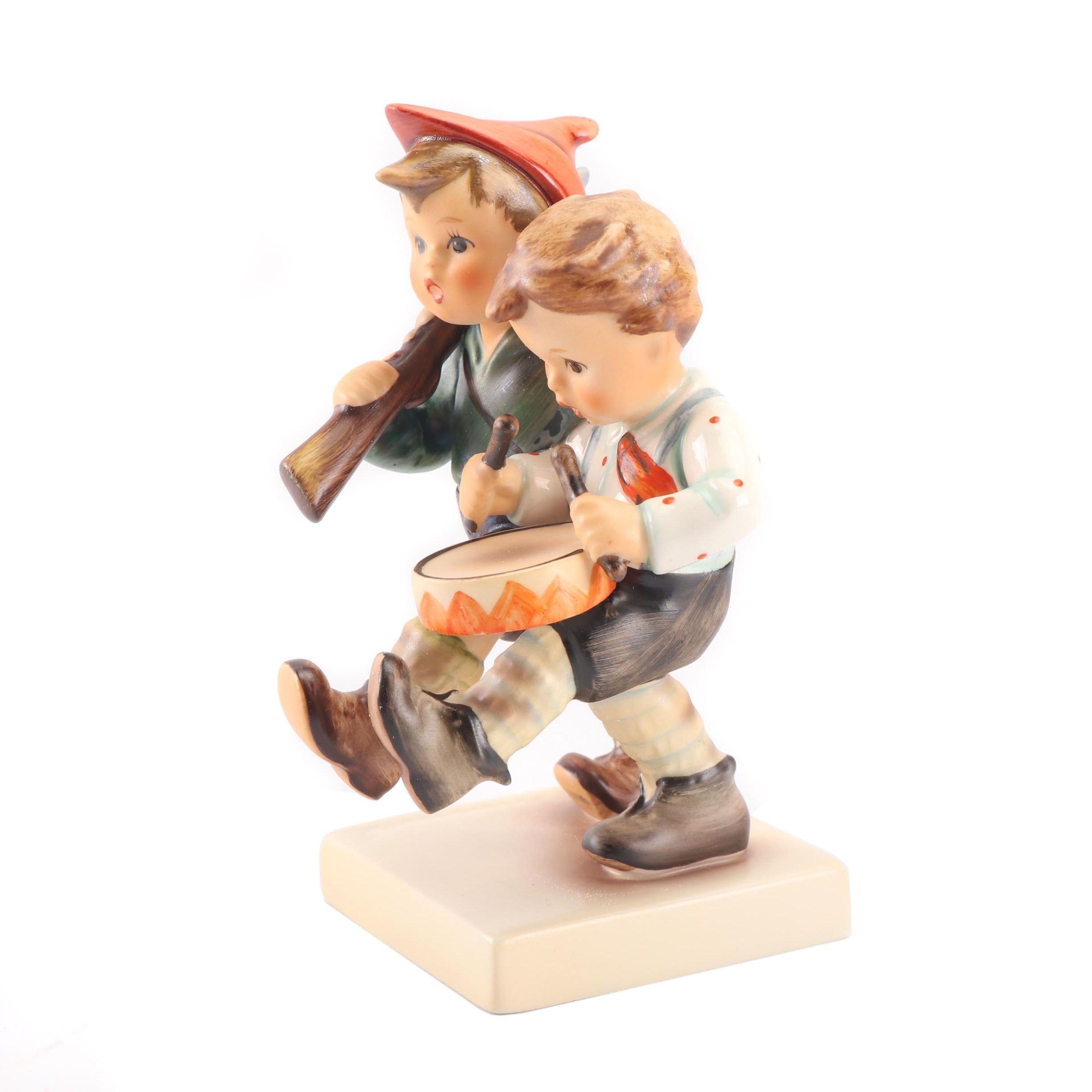 """Goebel Porcelain Hummel Figurine """"Volunteers"""""""