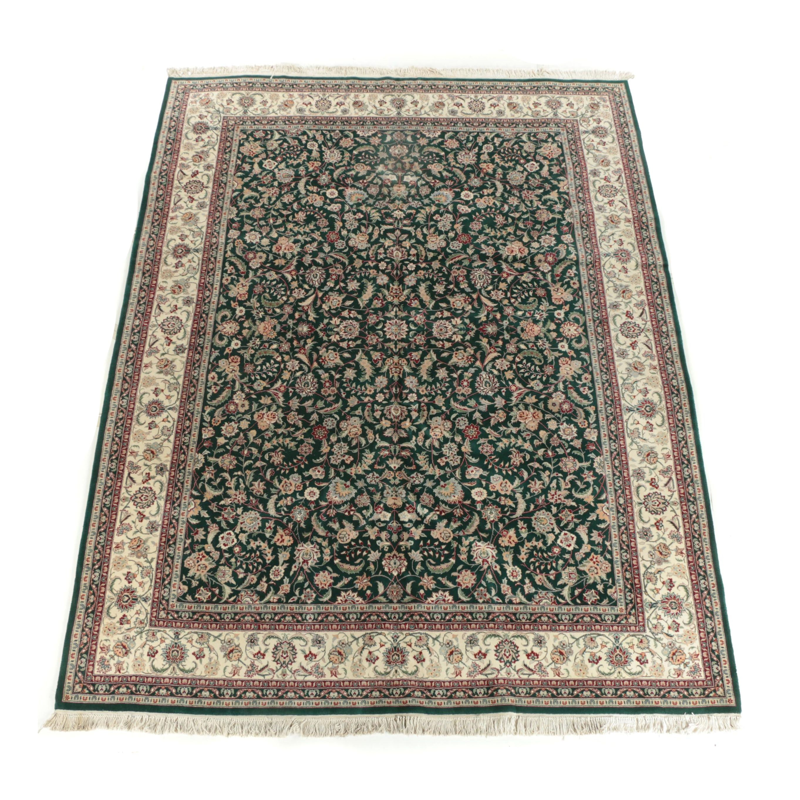 Hand-Knotted Newton Oriental Rugs Indo-Persian Wool Room Sized Rug