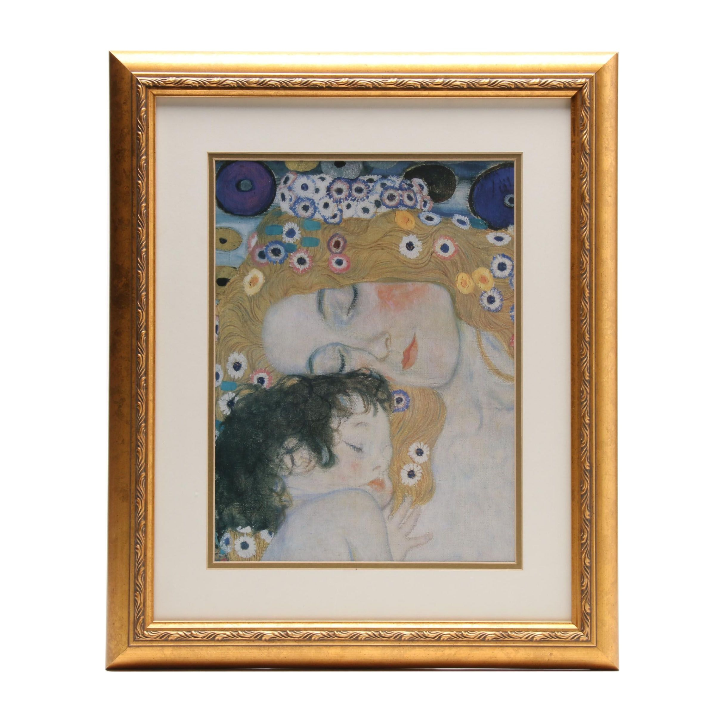 "Offset Lithograph after Gustave Klimt ""Mother and Child"""