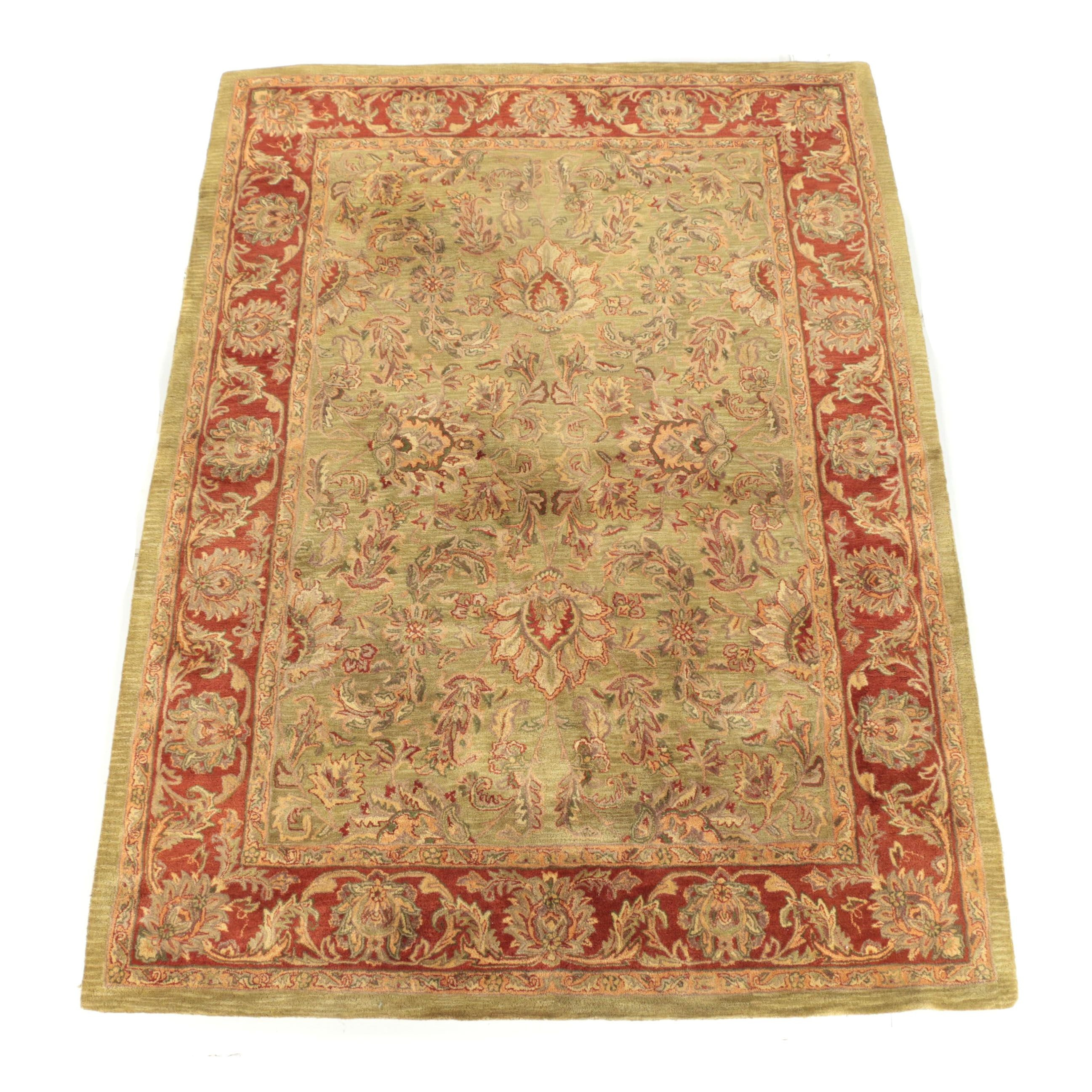 """Nourison """"Jaipur"""" Collection Indian Agra Hand-Tufted Wool Area Rug"""