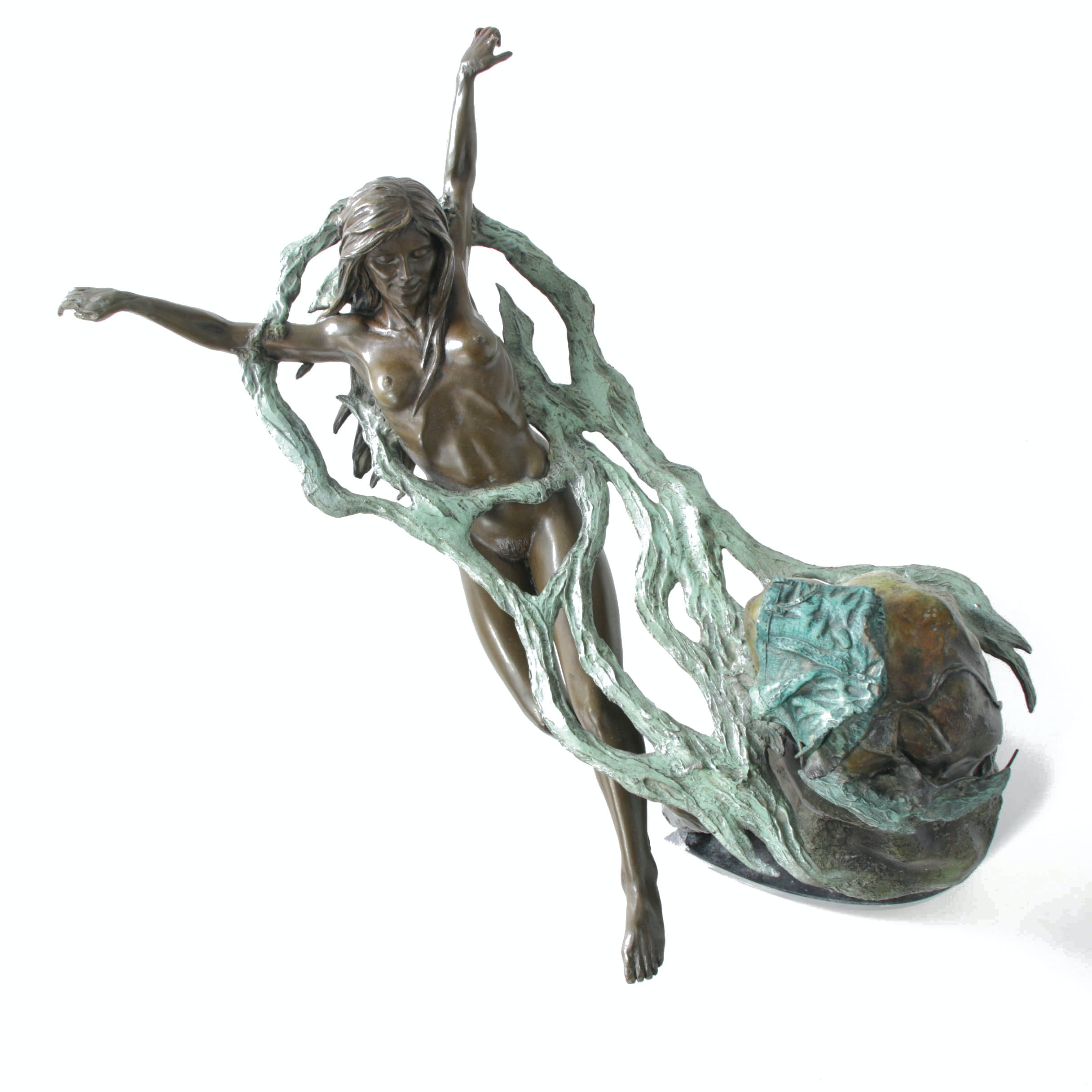"John Soderberg Cold Cast Bronze Sculpture ""Sea Song"""