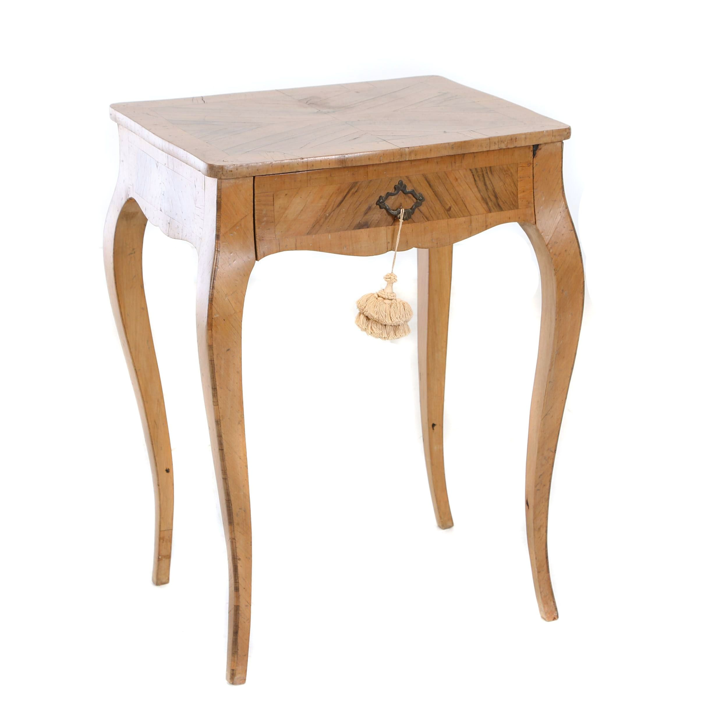 Italian Louis XV Style Olivewood Side Table, 20th Century