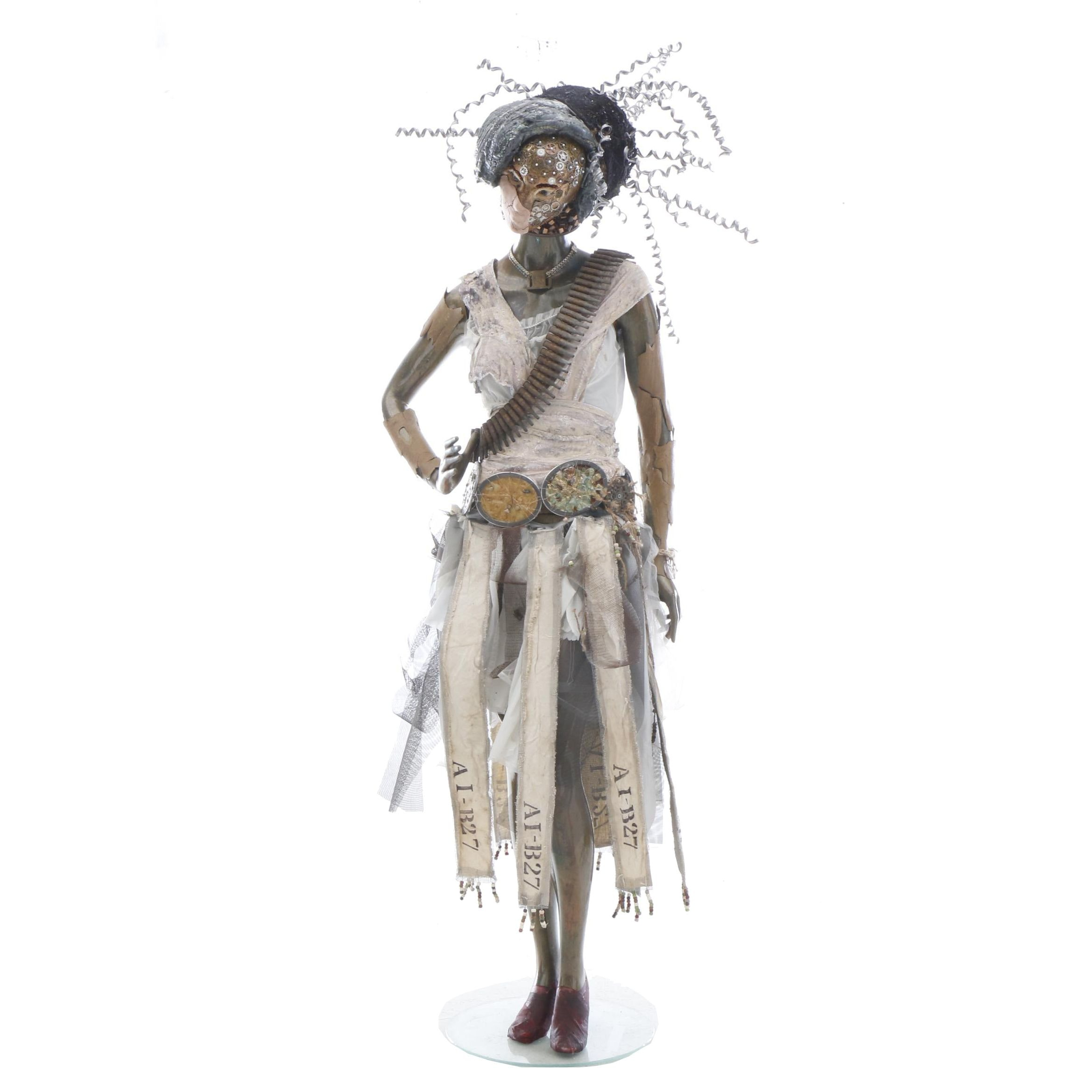 "Stephanie Osman Mixed Media Life-Sized Sculpture ""AI-B27"""