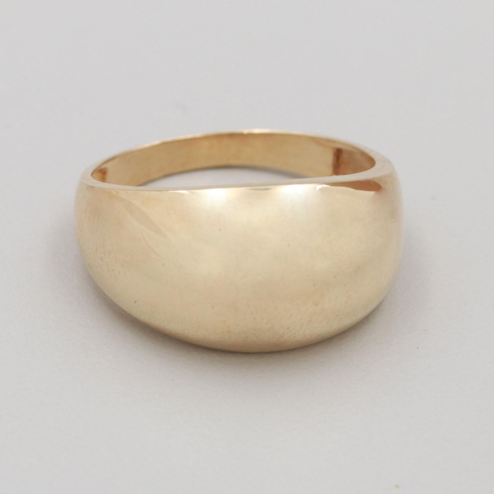 10K Yellow Gold Dome Ring