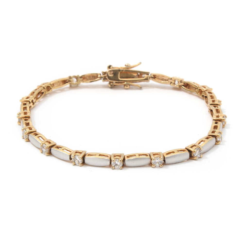 Gold-Tone Costume Jewelry Bracelet