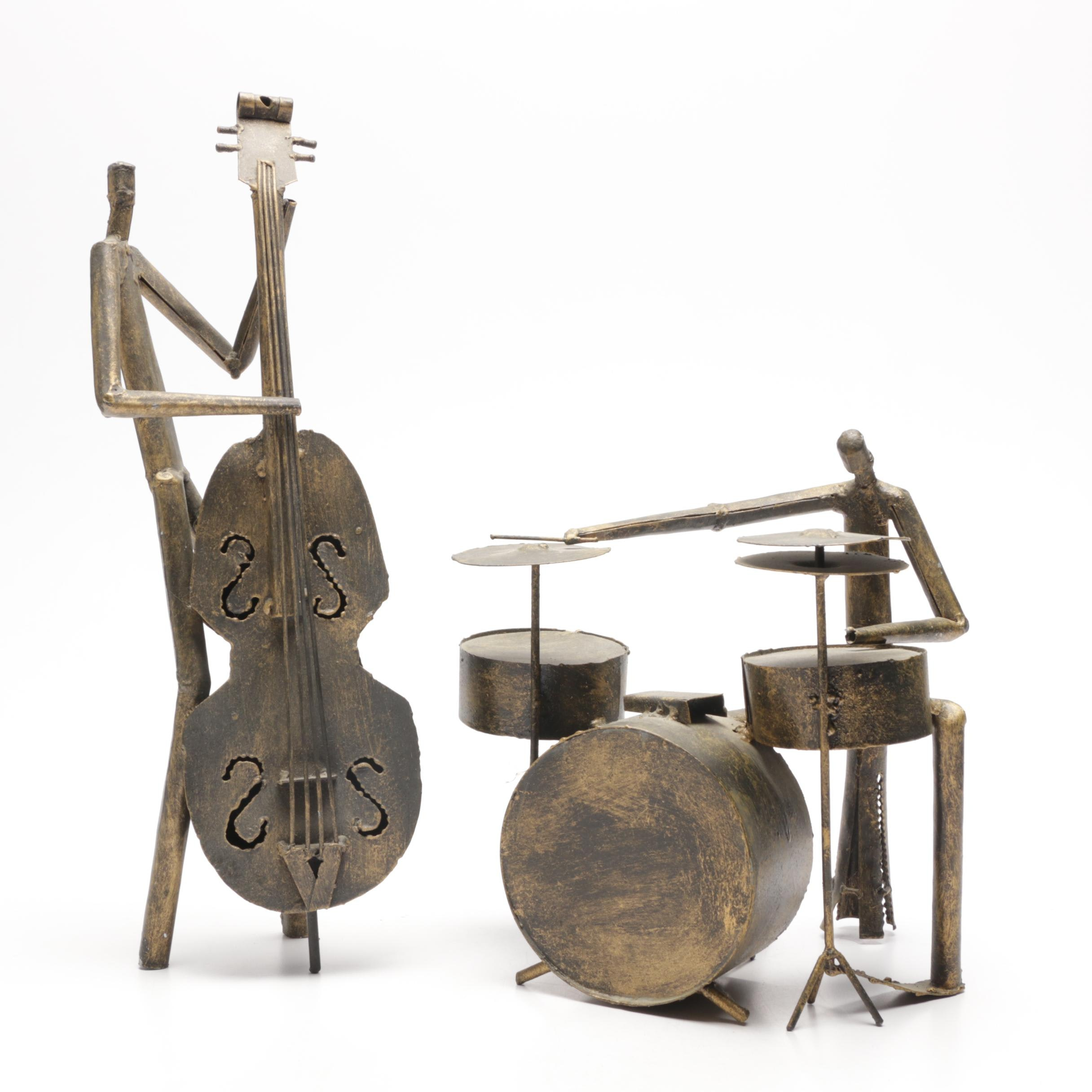 Metal Tube Musician Figurine Sculptures by Z Gallerie