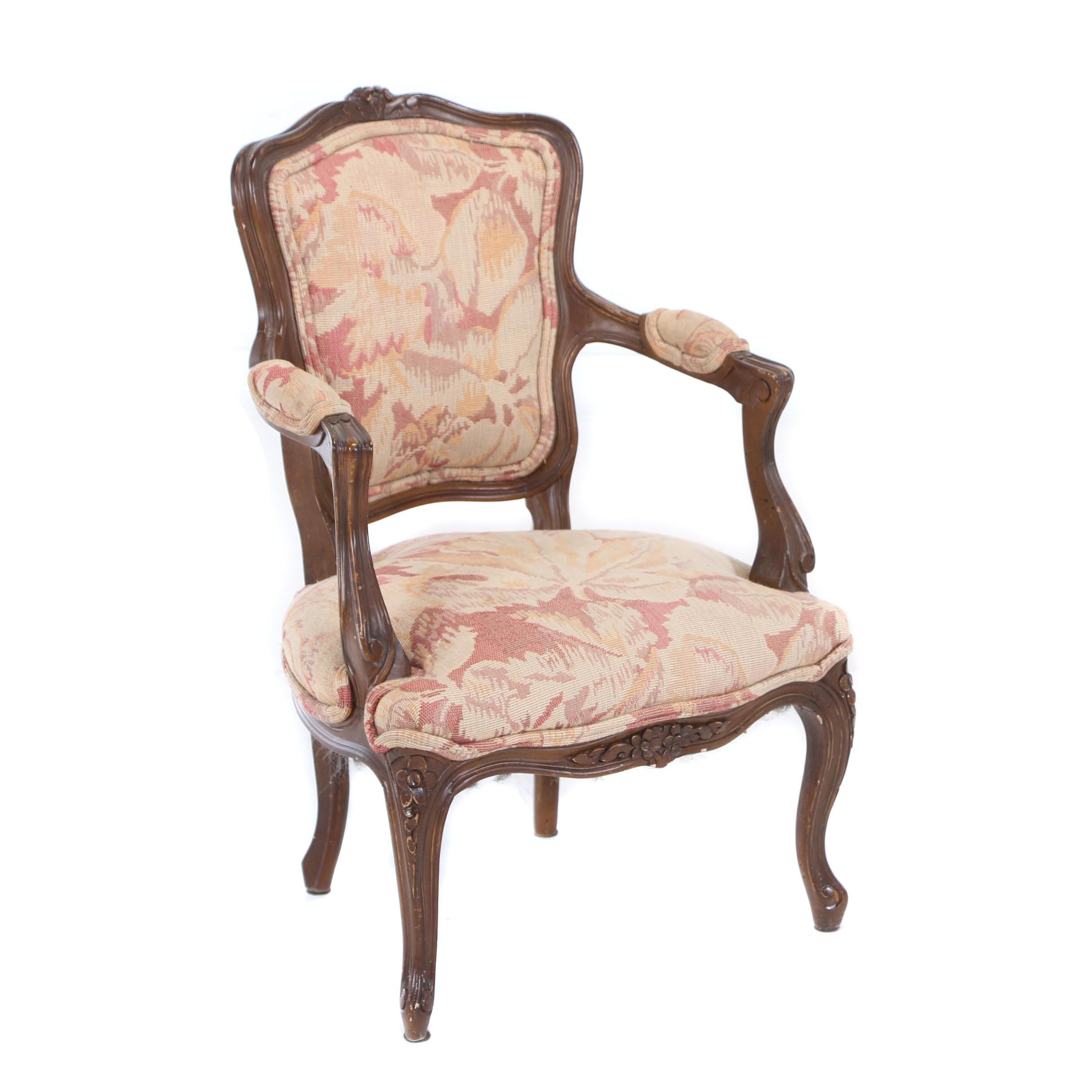Louis XV Style Child's Fauteuil, 20th Century