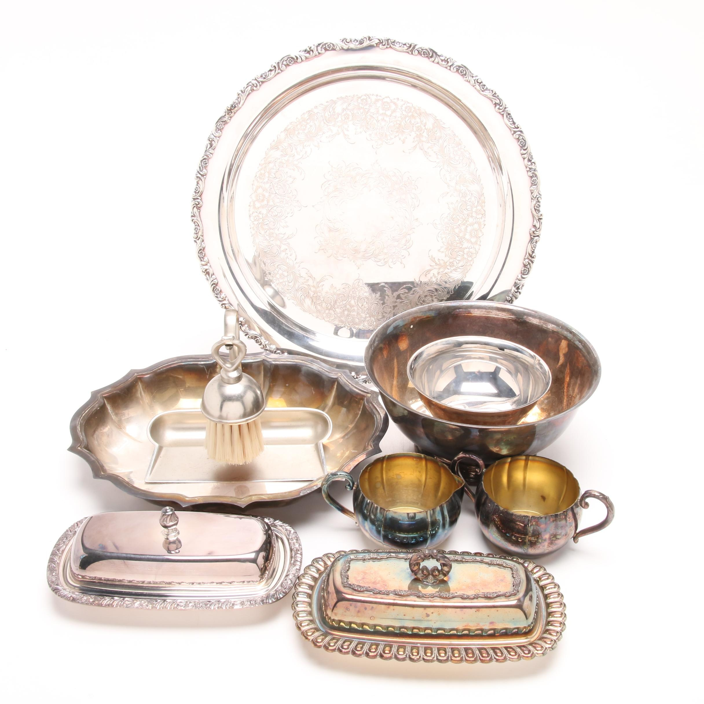 Silver Plate Serveware Featuring International Silver and Herald