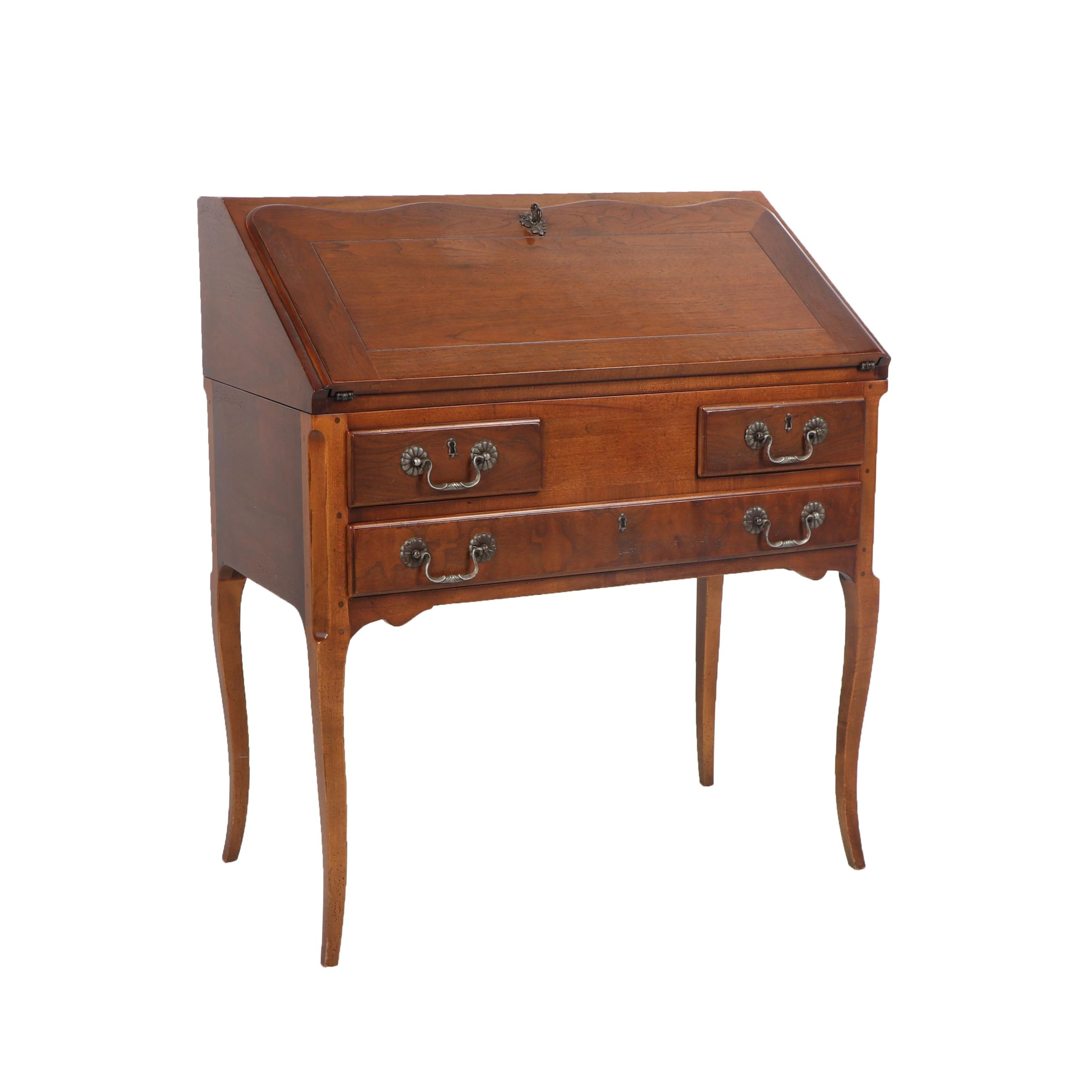 "French Country Style ""Pierre Deux"" Walnut Secretary Desk by Henredon, Late 20th"